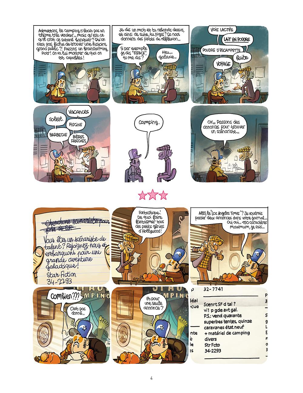 Extrait n°2 de la bd Star Fixion par Obion
