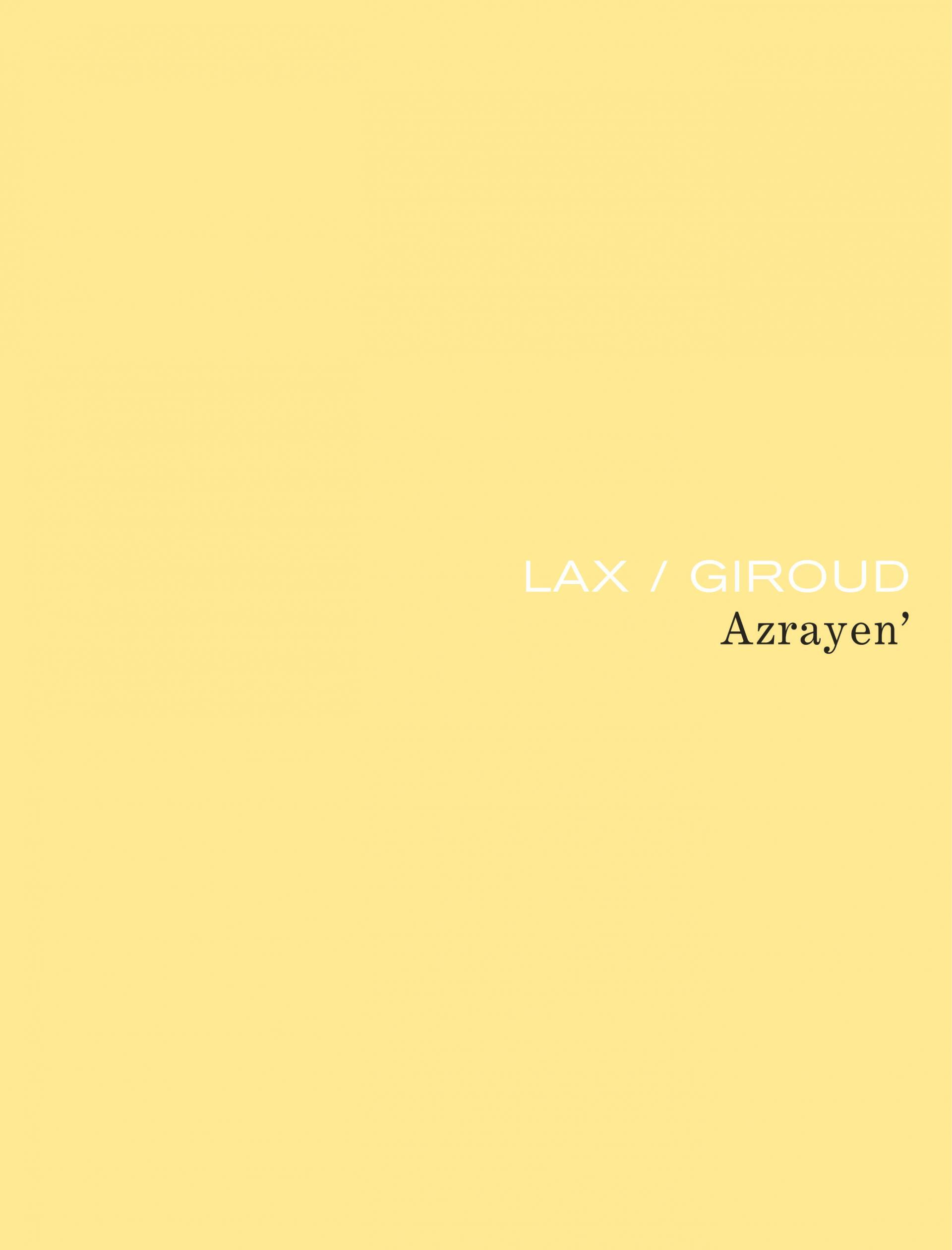 Azrayen' (édition intégrale définitive)