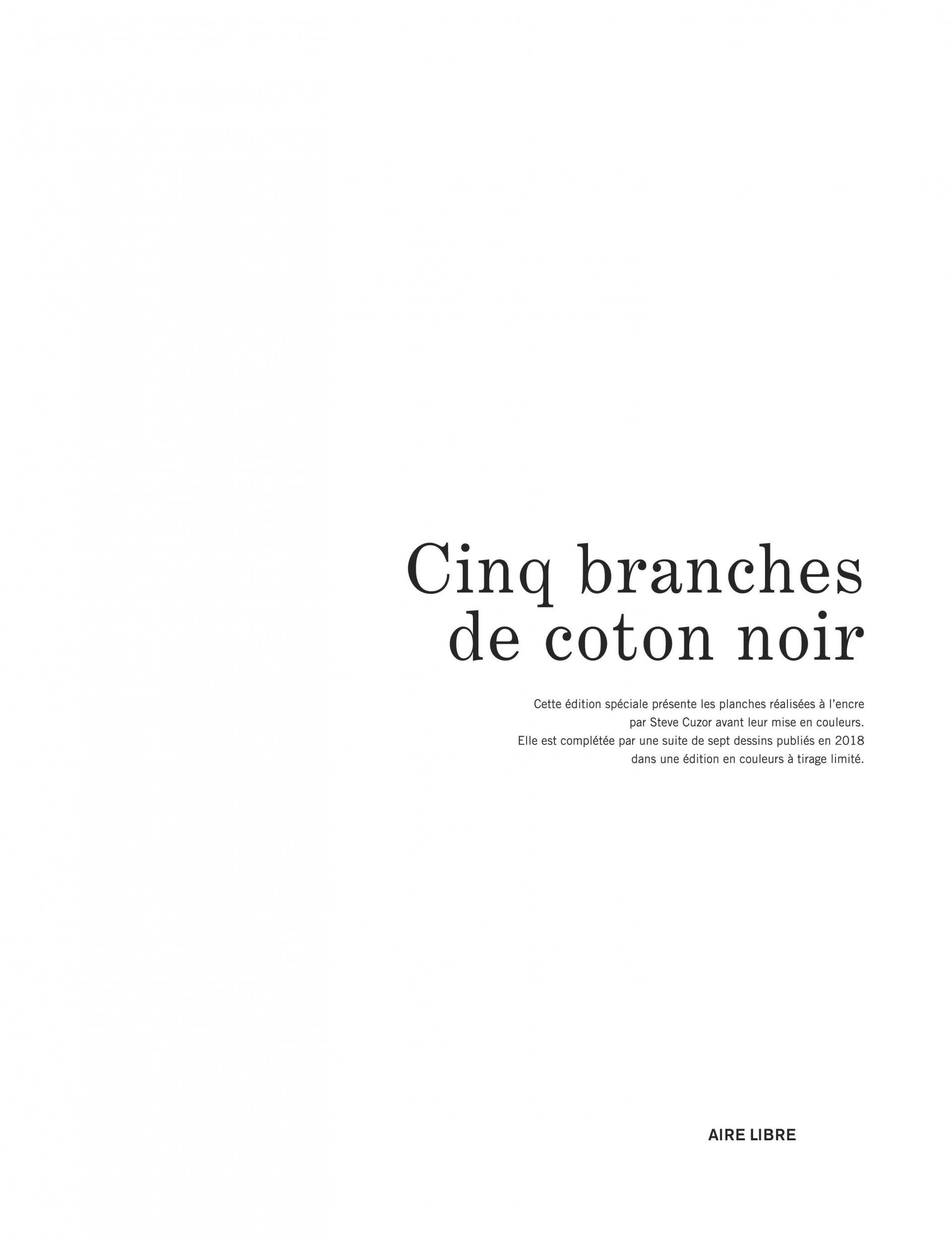 Cinq branches de coton noir N/B (Gd format)