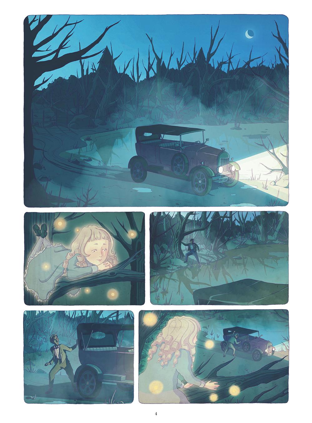 Extrait n°1 de la bd La Mystérieuse affaire Agatha Christie par Chantel Van Den Heuvel