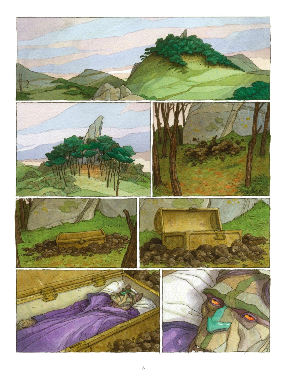 Extrait n°6 de la bd Le Triskel volé par Miguelanxo Prado