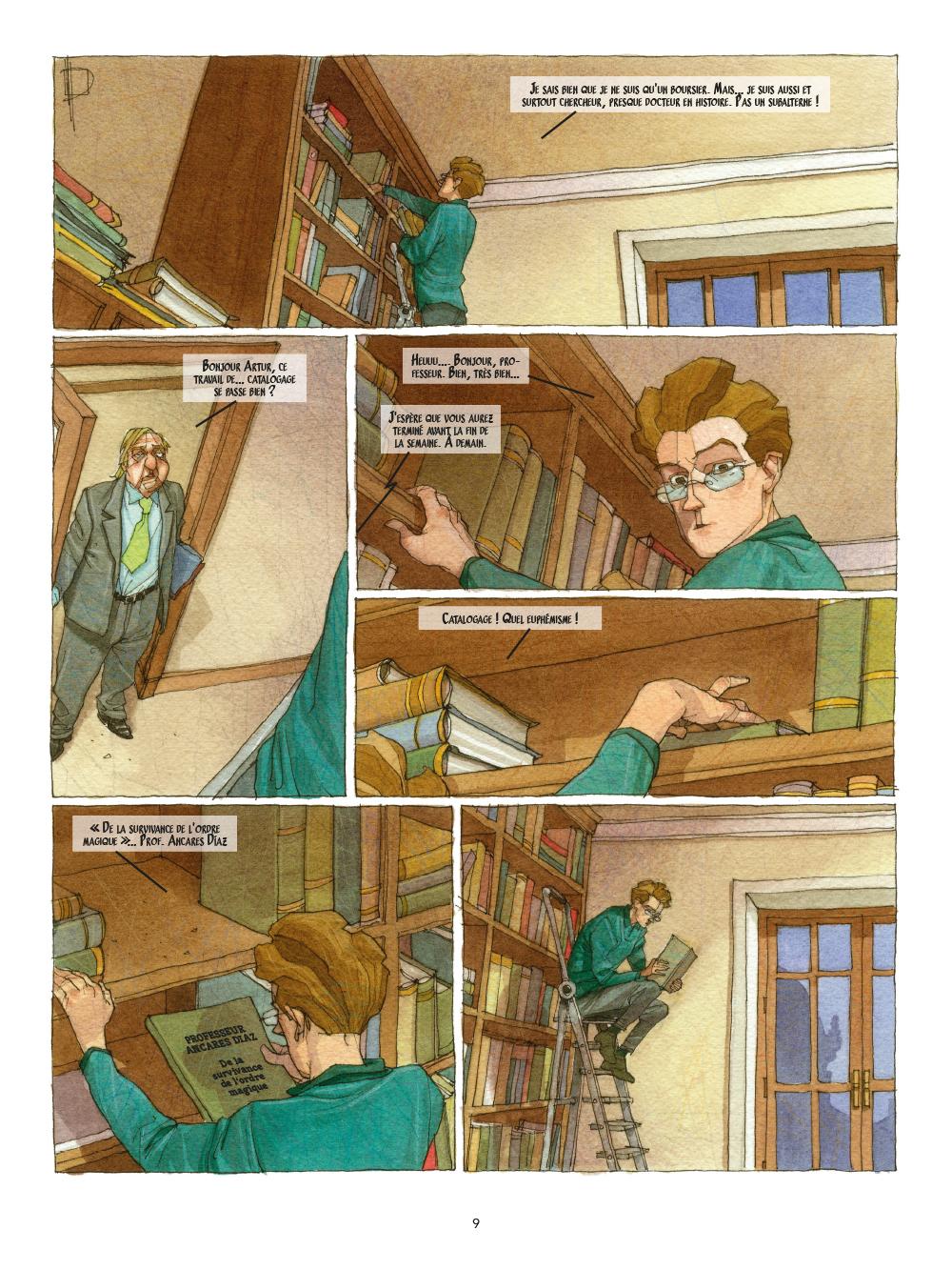 Extrait n°9 de la bd Le Triskel volé par Miguelanxo Prado