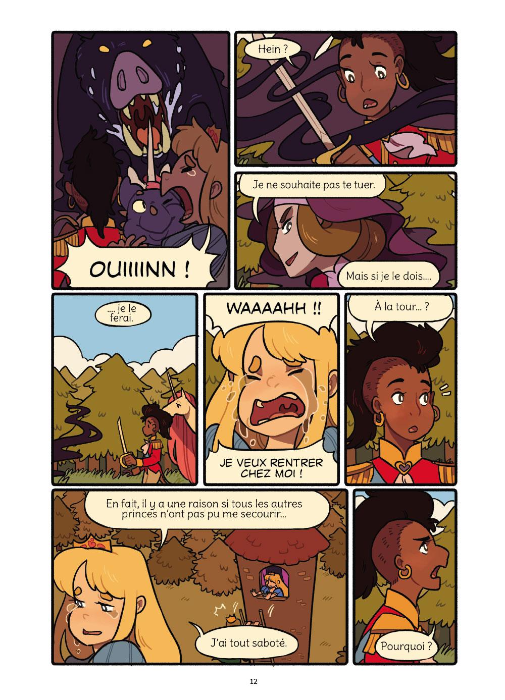 Extrait n°8 de la bd Princesse Princesse par Katie O'Neill