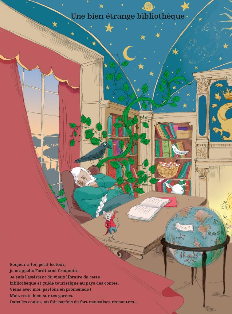 Extrait n°1 de la bd Voyage au pays des contes par Camille Garoche
