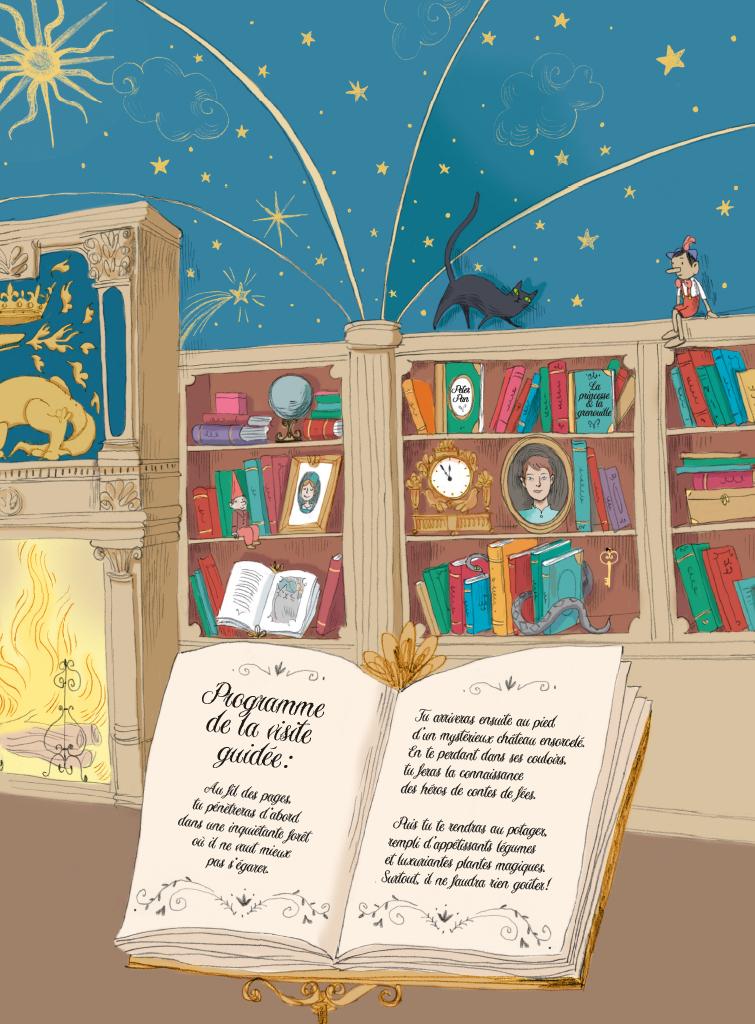 Extrait n°2 de la bd Voyage au pays des contes par Camille Garoche
