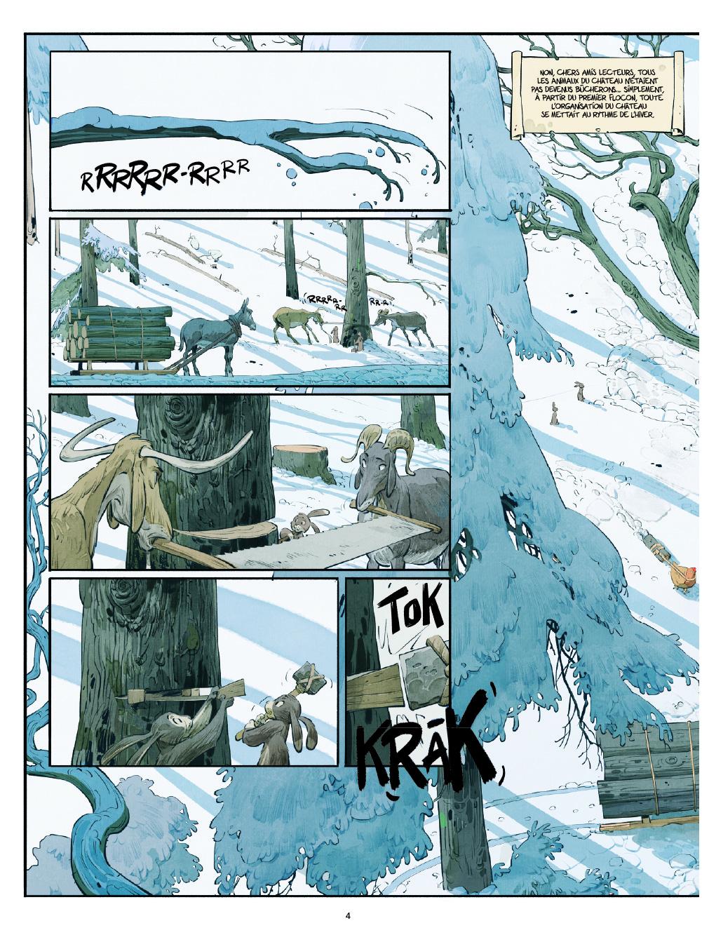 Le Château des animaux - T.2 Les Marguerites de l'hiver