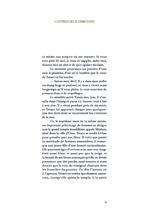 Extrait n°2 de la bd Esprits & Créatures du Japon par Benjamin Lacombe