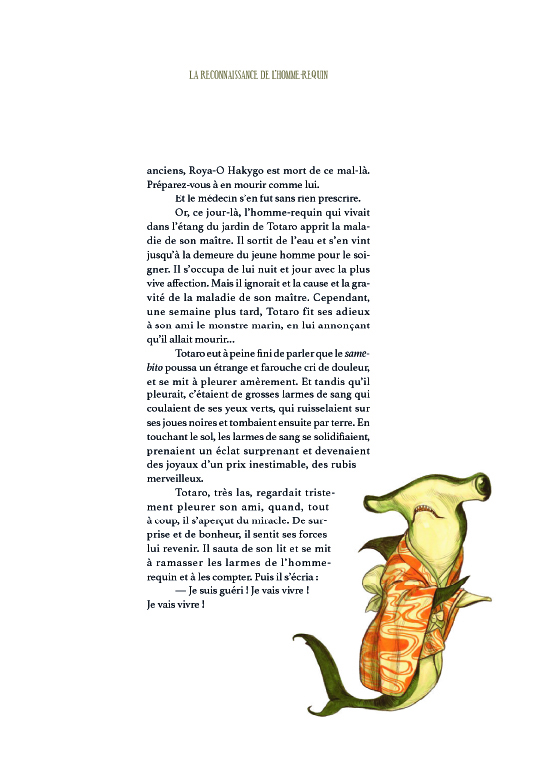 Extrait n°5 de la bd Esprits & Créatures du Japon par Benjamin Lacombe
