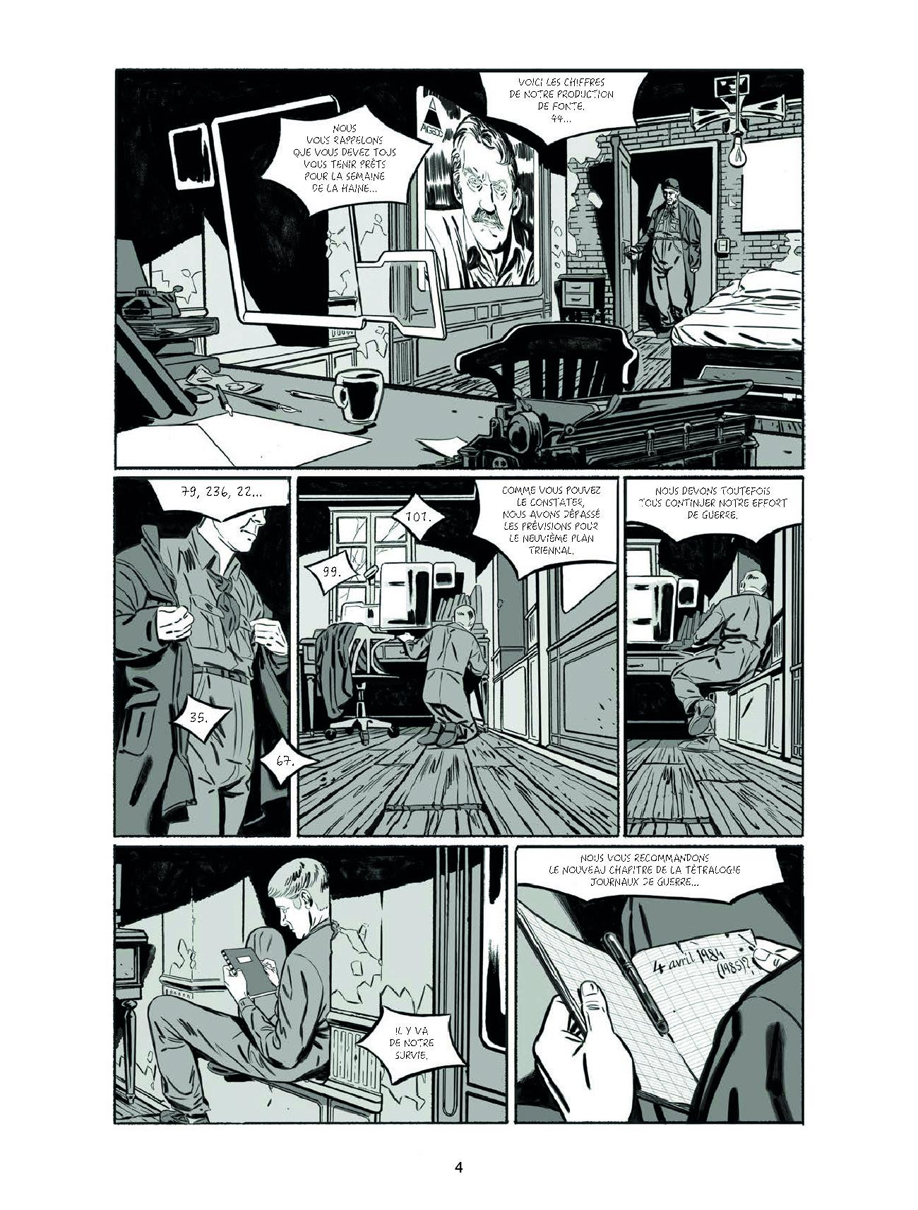 Extrait n°2 de la bd 1984 par Jean-Christophe Derrien
