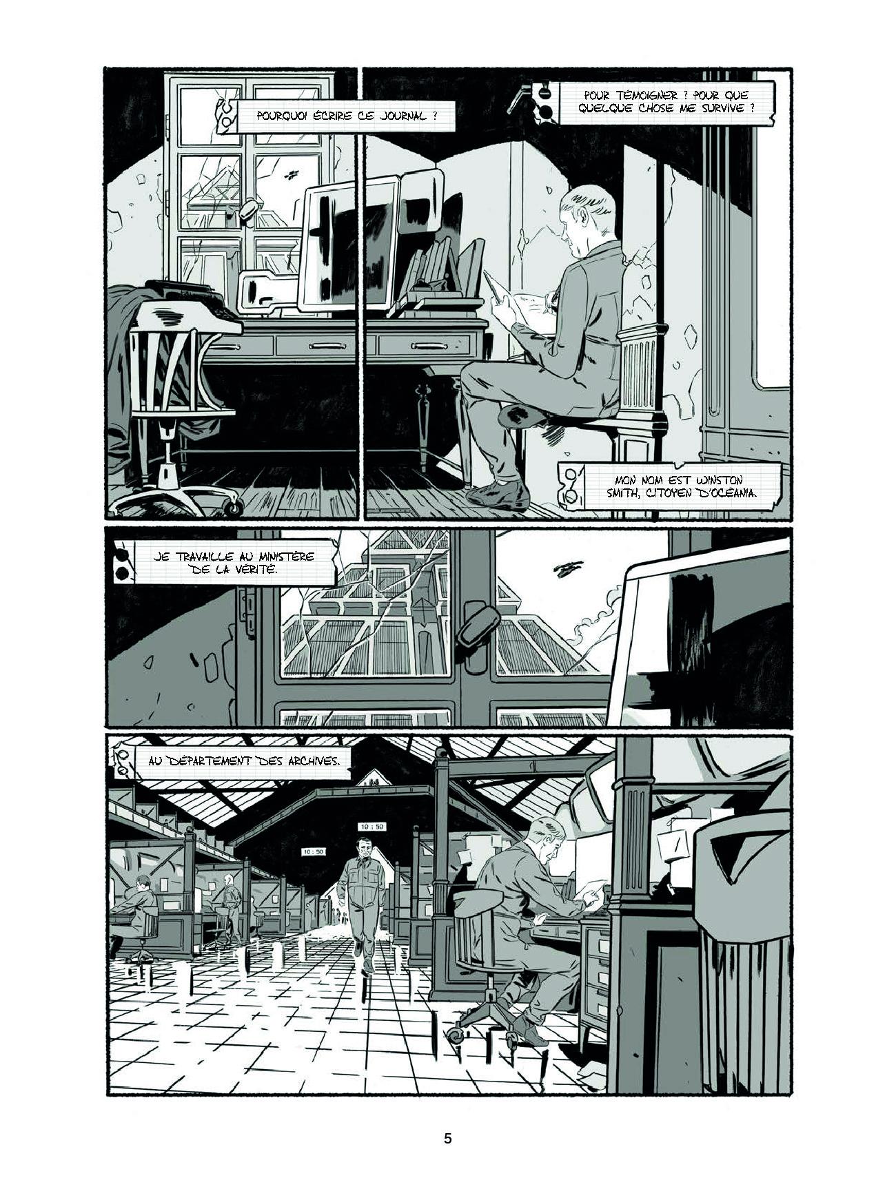 Extrait n°3 de la bd 1984 par Jean-Christophe Derrien