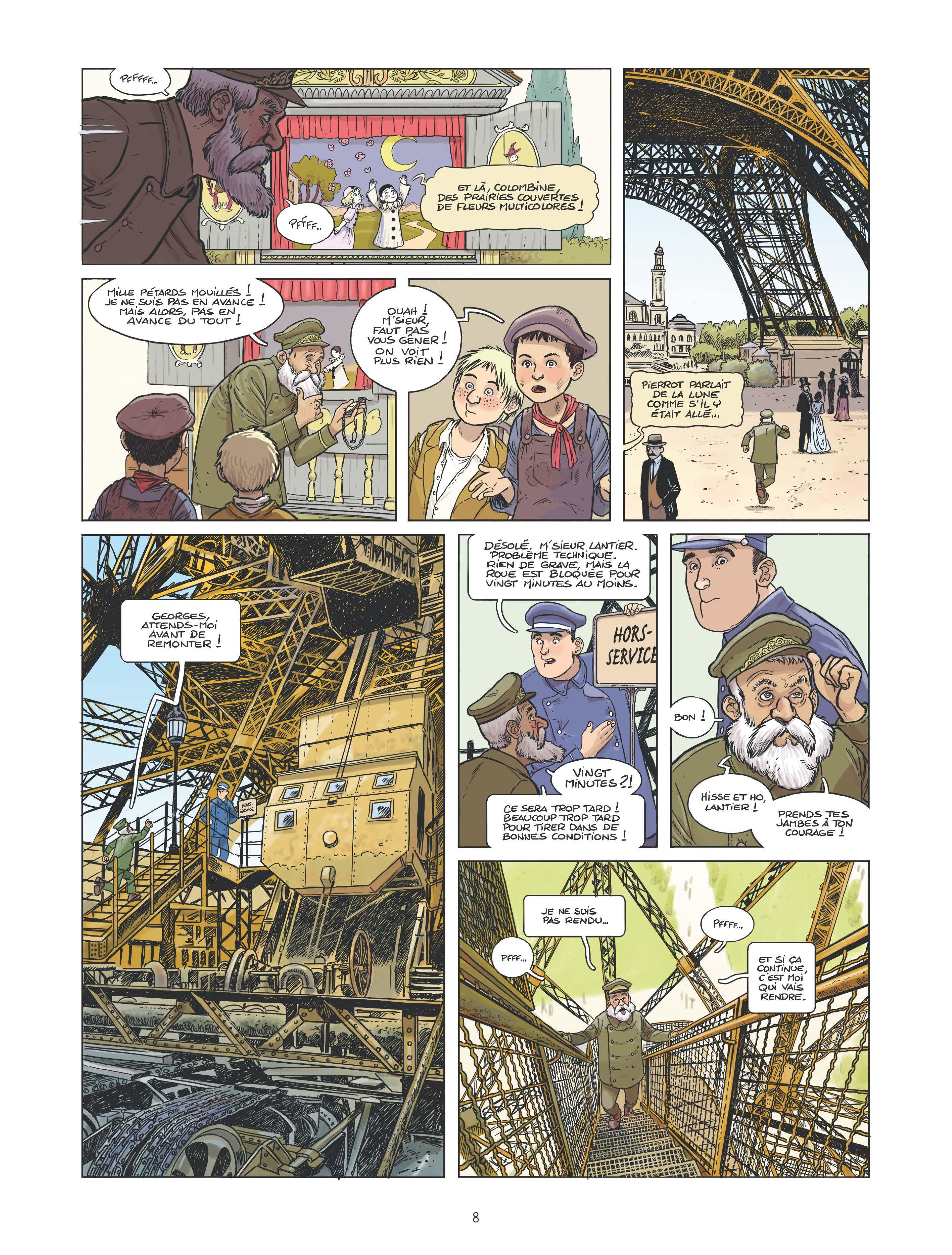 Extrait n°2 de la bd Le canonnier de la Tour Eiffel par Perche
