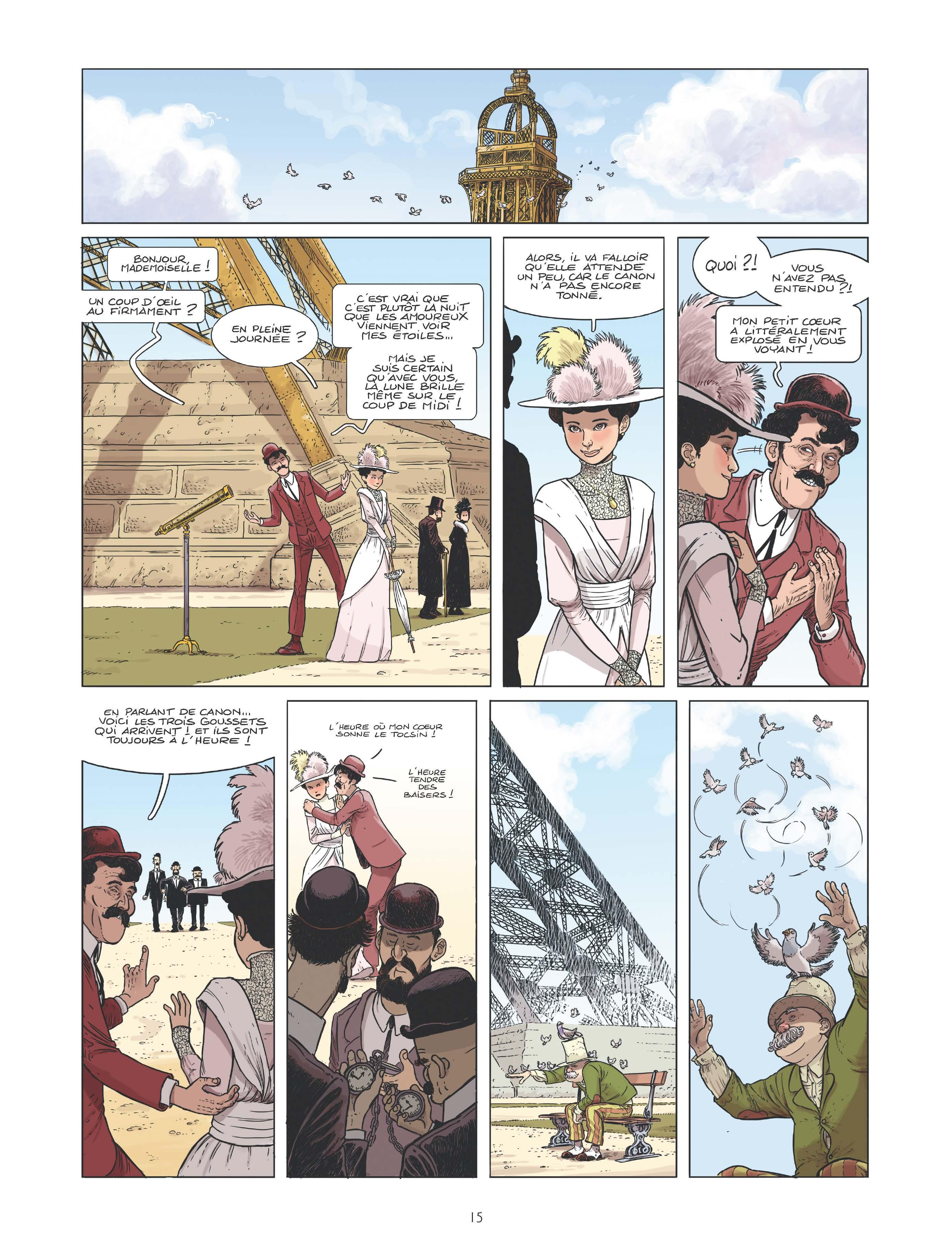 Extrait n°9 de la bd Le canonnier de la Tour Eiffel par Perche