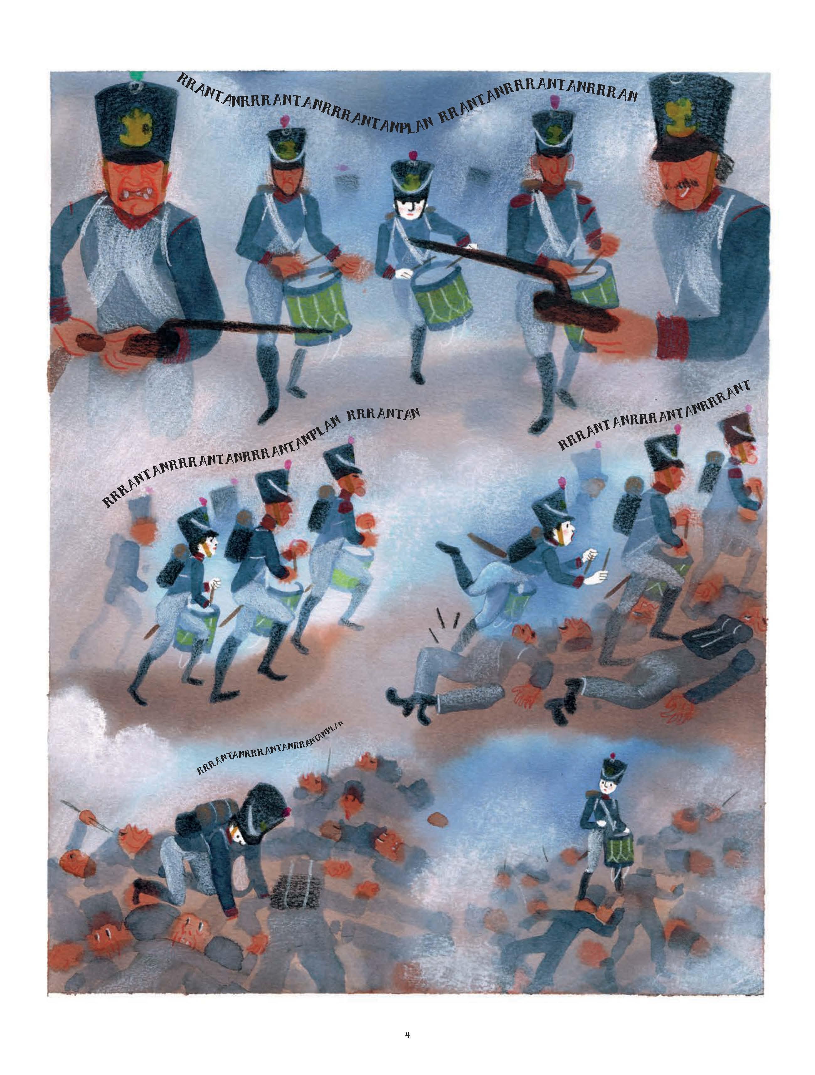 Extrait n°2 de la bd Le tambour de la Moskova par Simon Spruyt