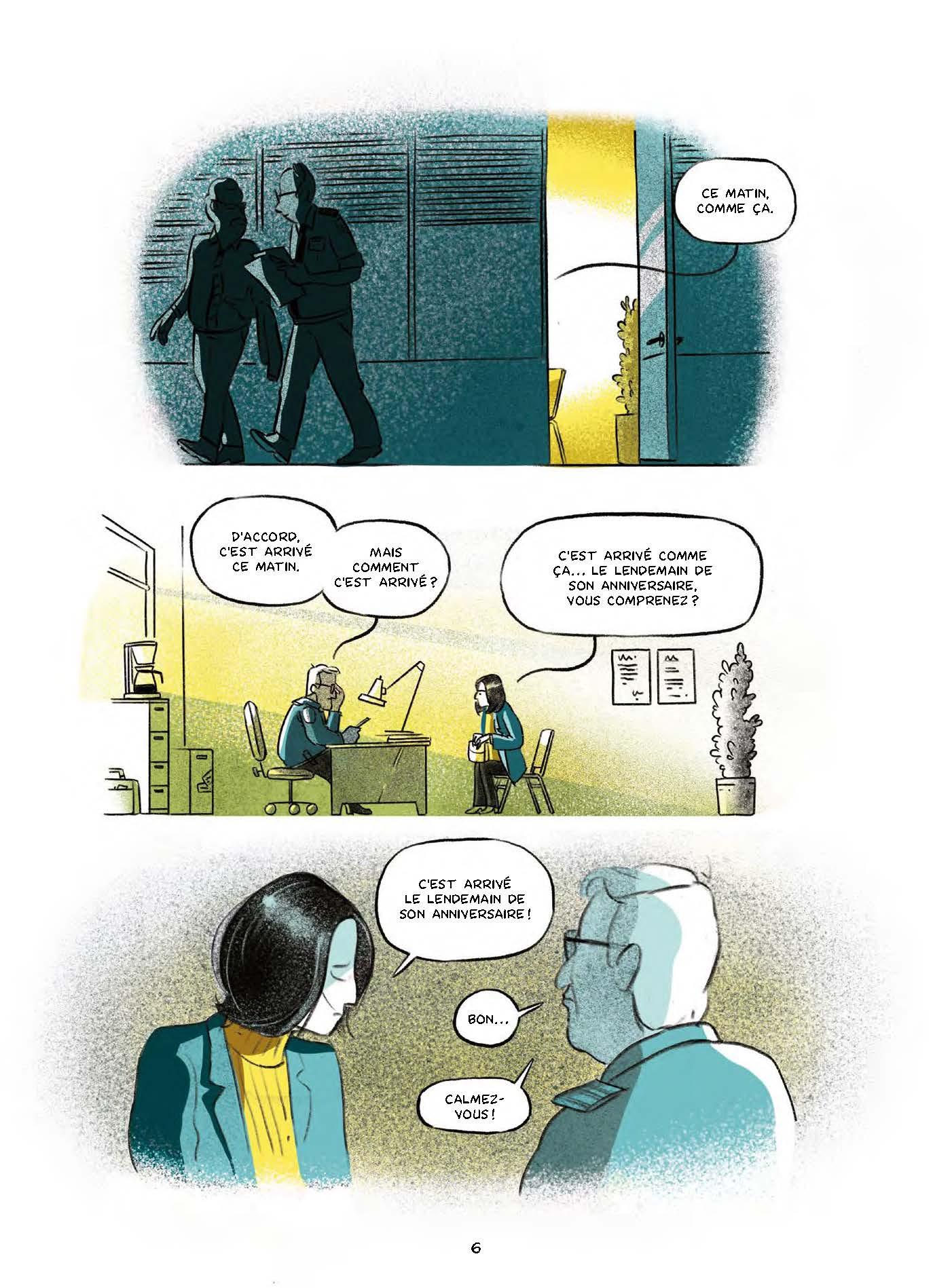 Extrait n°3 de la bd Le garçon au visage disparu par Pierre Lecrenier