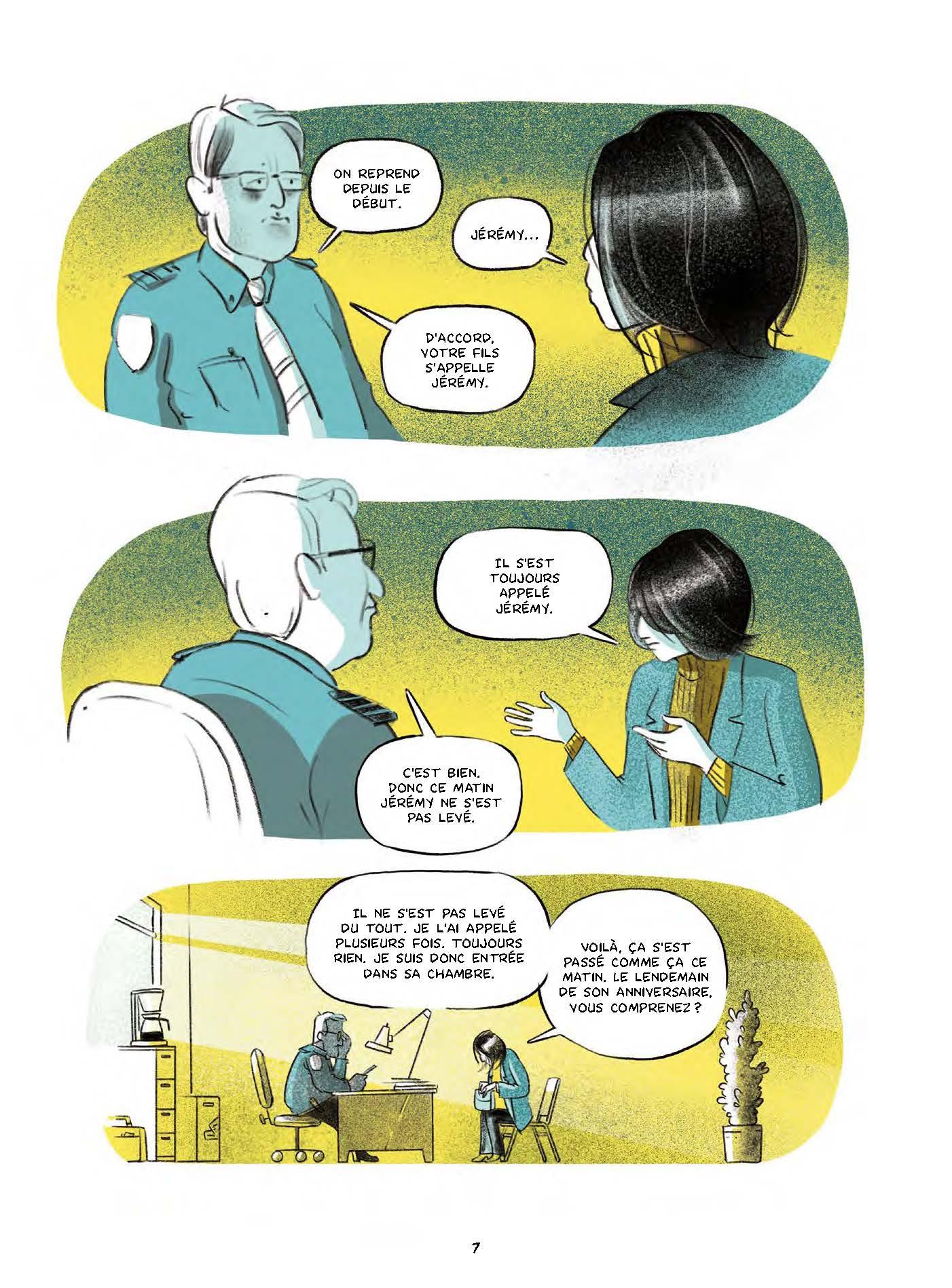 Extrait n°4 de la bd Le garçon au visage disparu par Pierre Lecrenier