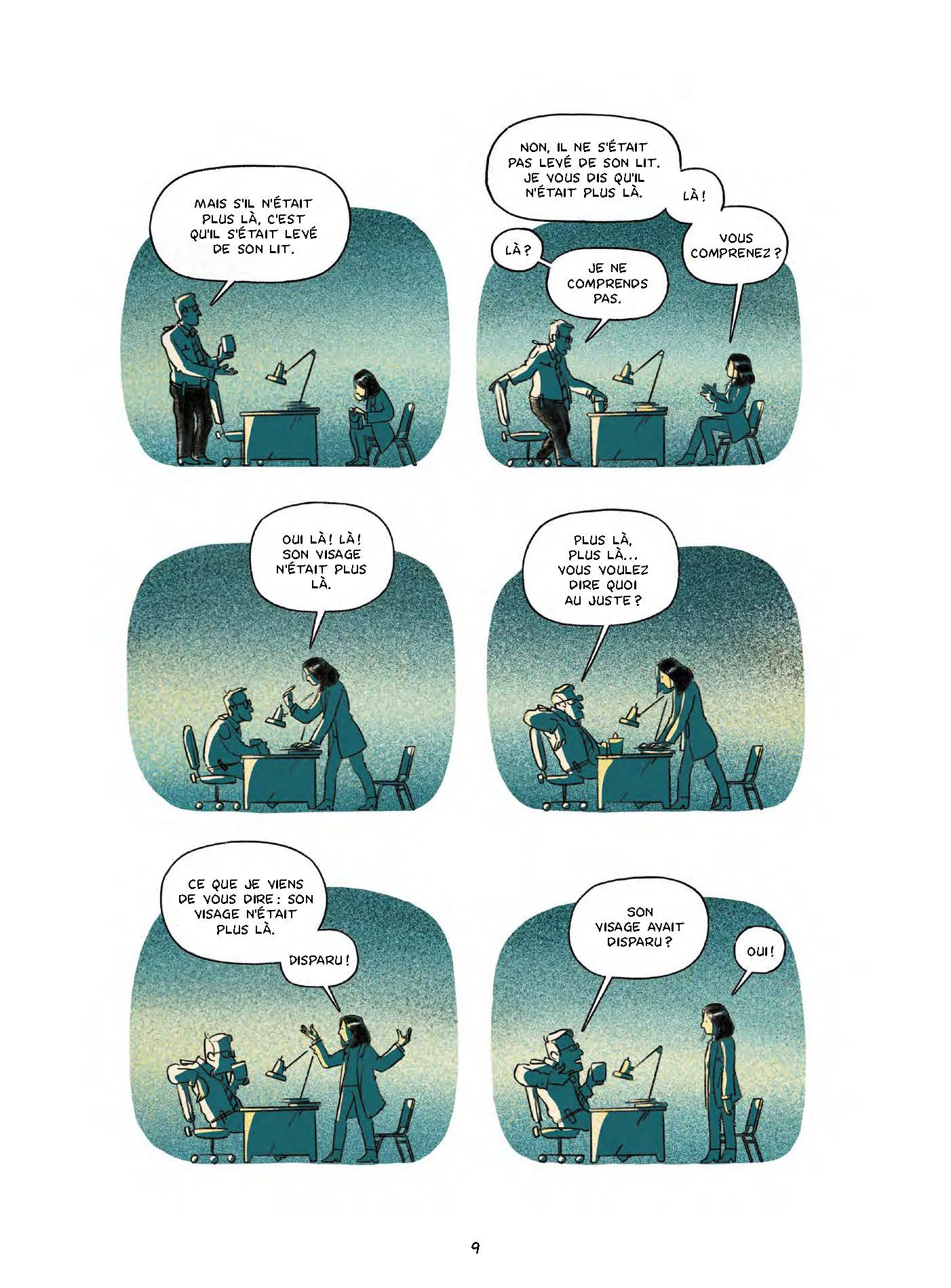 Extrait n°6 de la bd Le garçon au visage disparu par Pierre Lecrenier