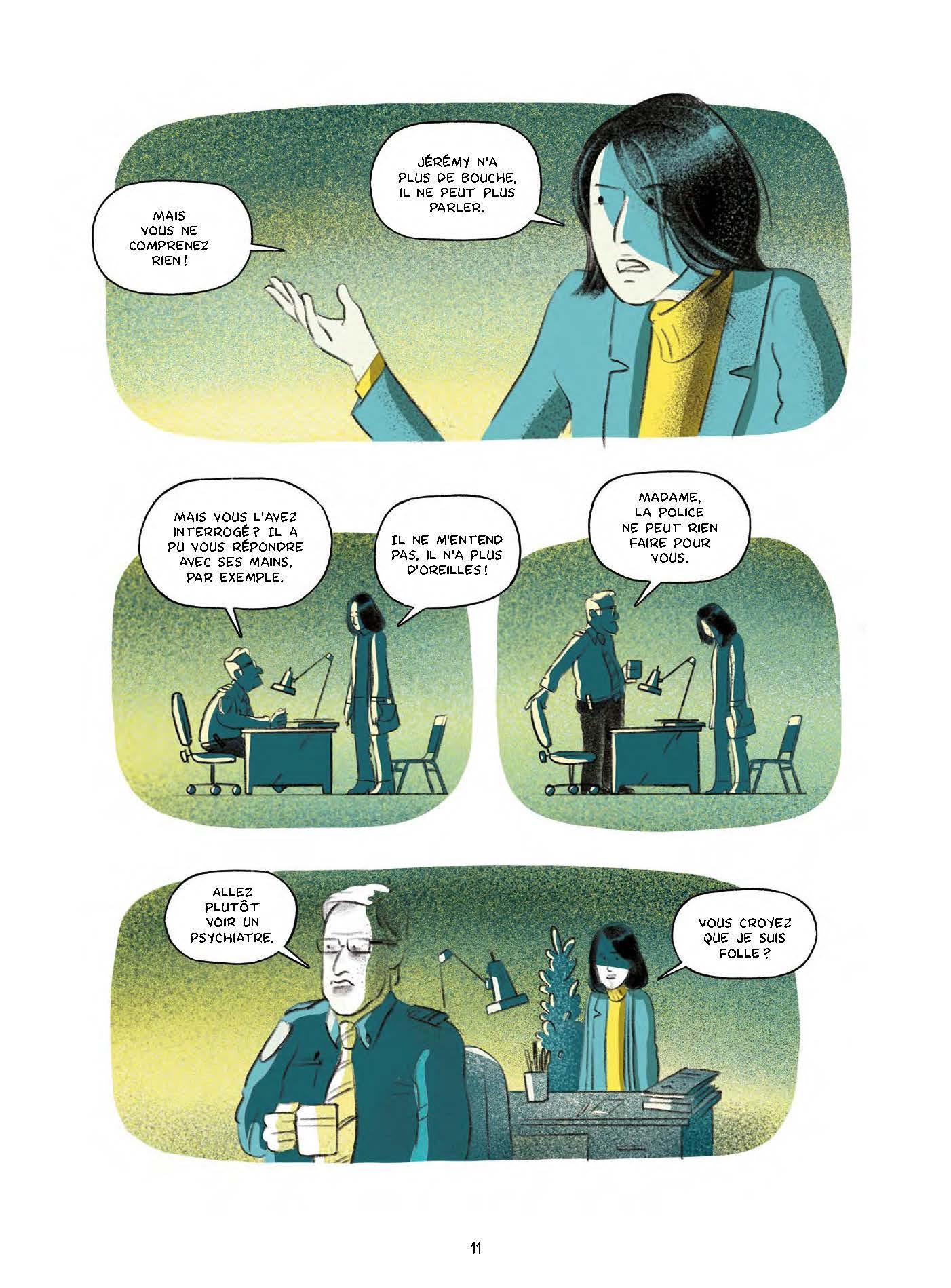 Extrait n°8 de la bd Le garçon au visage disparu par Pierre Lecrenier