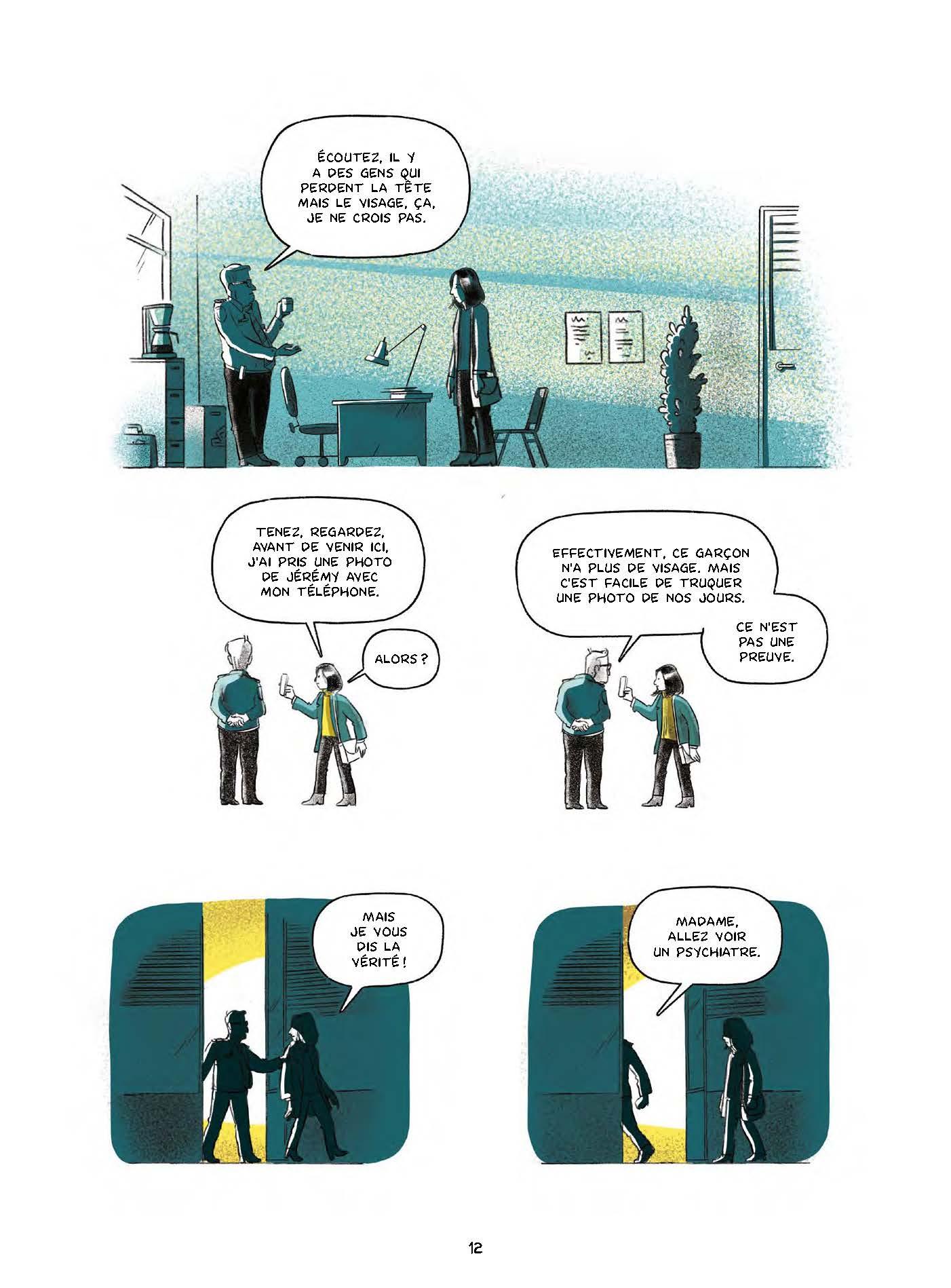 Extrait n°9 de la bd Le garçon au visage disparu par Pierre Lecrenier