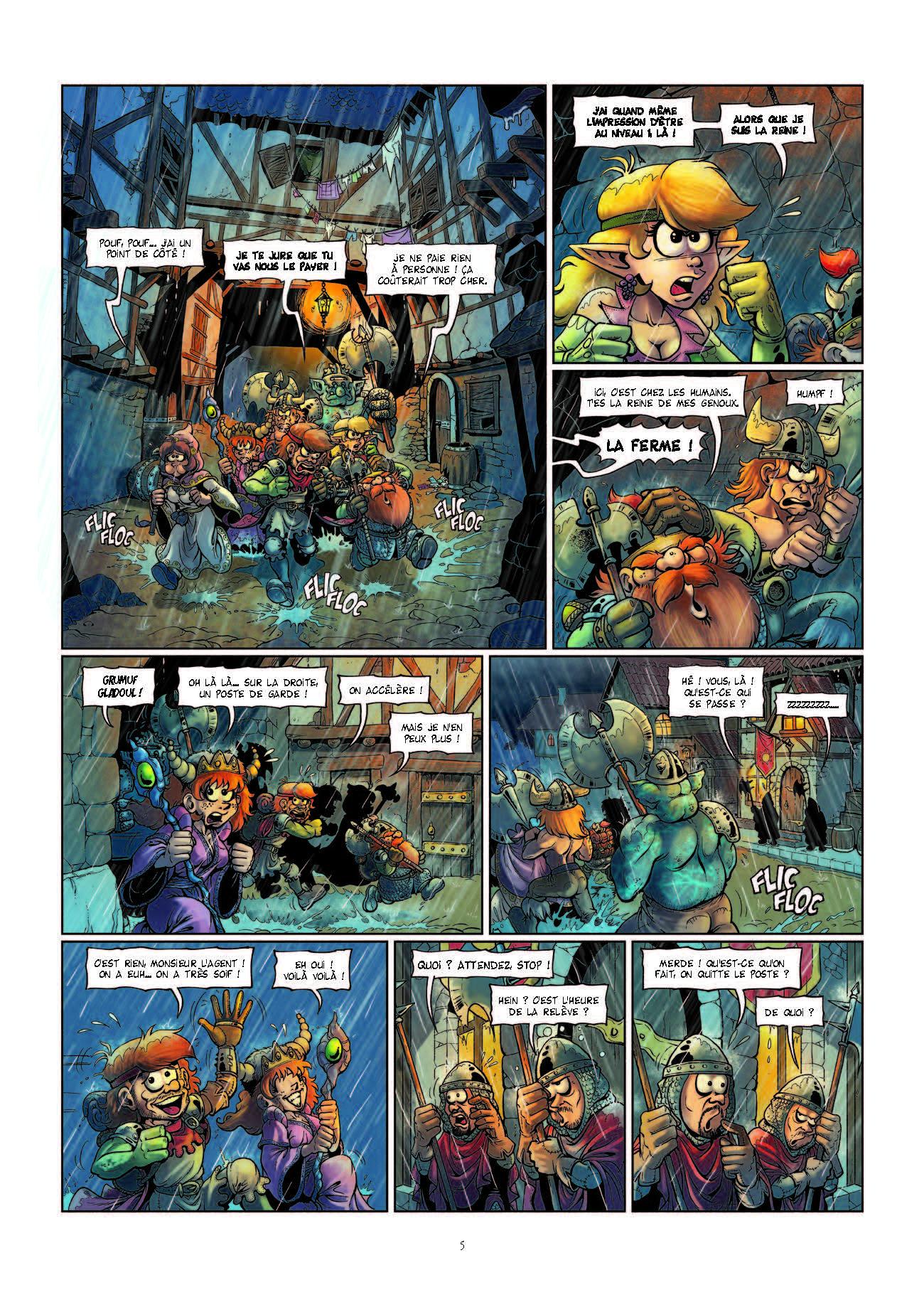 Extrait n°5 de la bd Le Donjon de Naheulbeuk Fiers de Hache par Marion