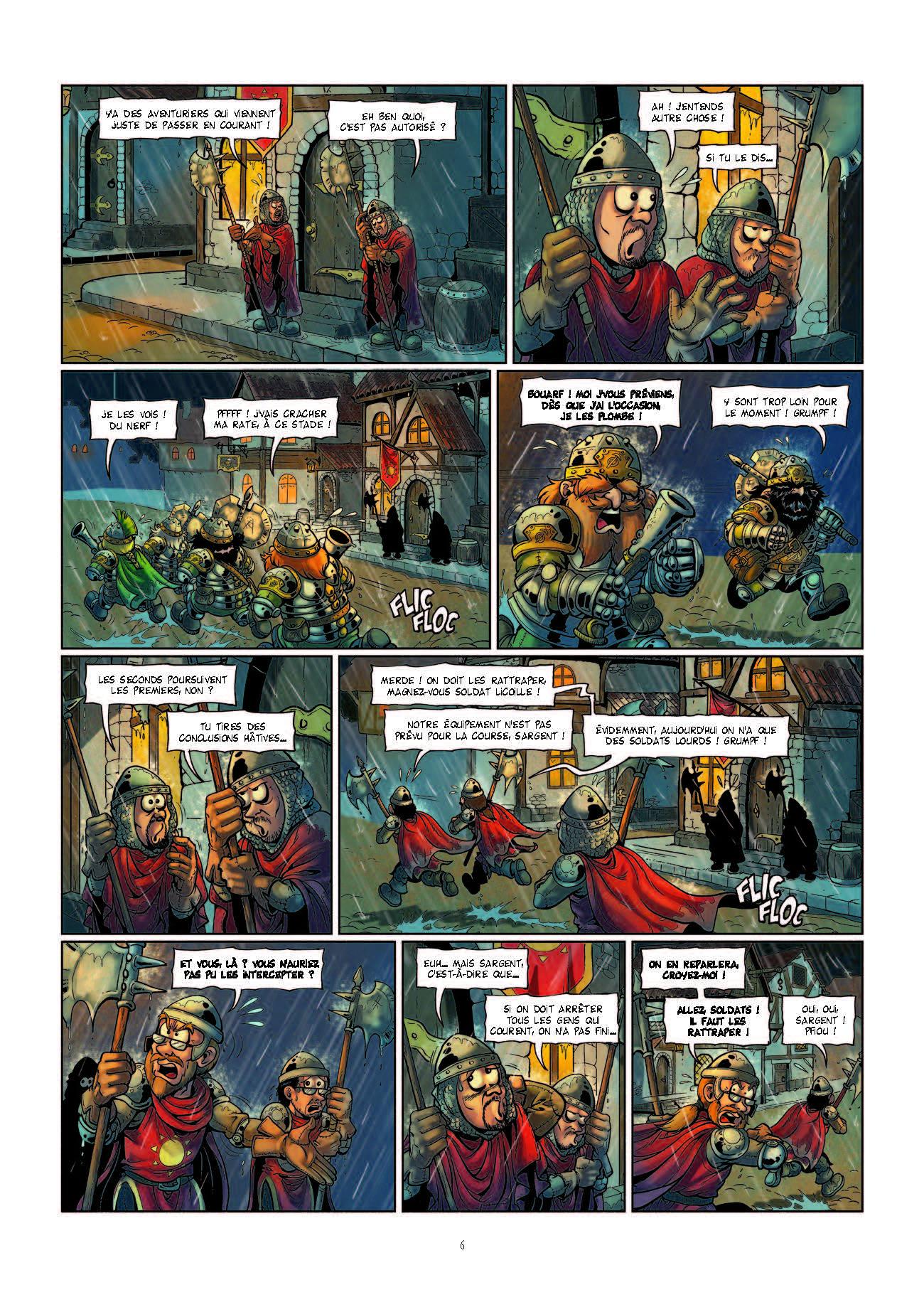 Extrait n°6 de la bd Le Donjon de Naheulbeuk Fiers de Hache par Marion