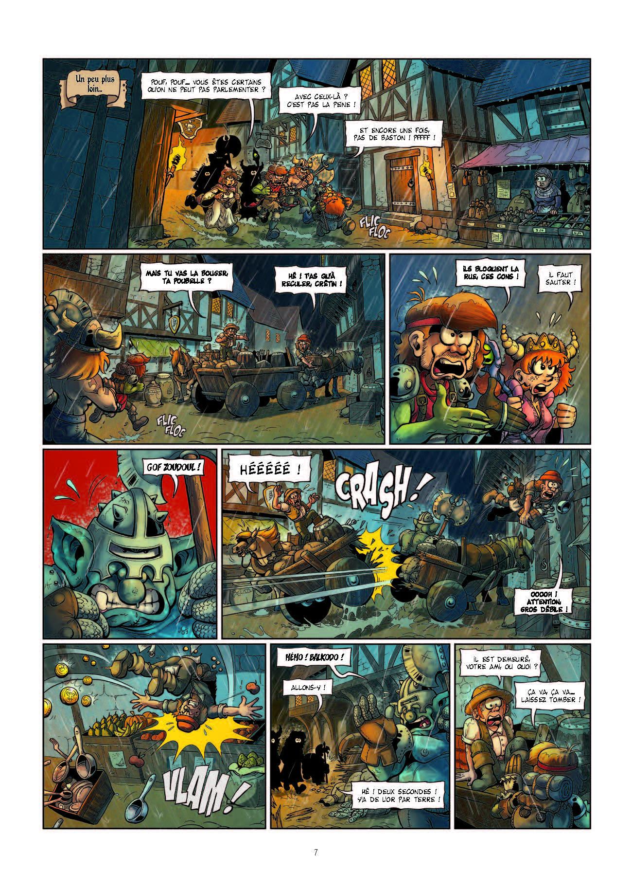 Extrait n°7 de la bd Le Donjon de Naheulbeuk Fiers de Hache par Marion
