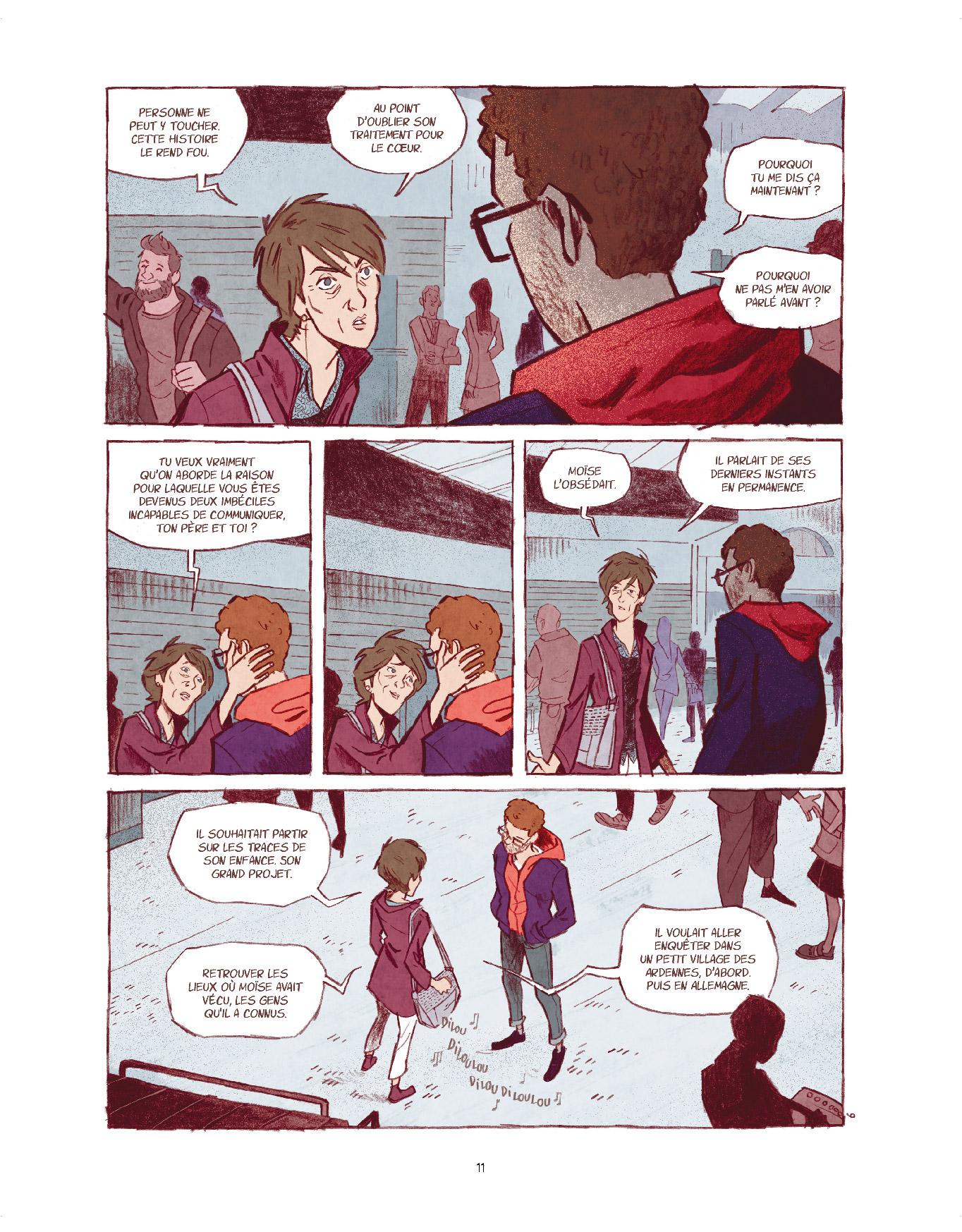 Extrait n°5 de la bd Entre les lignes par Dominique Mermoux