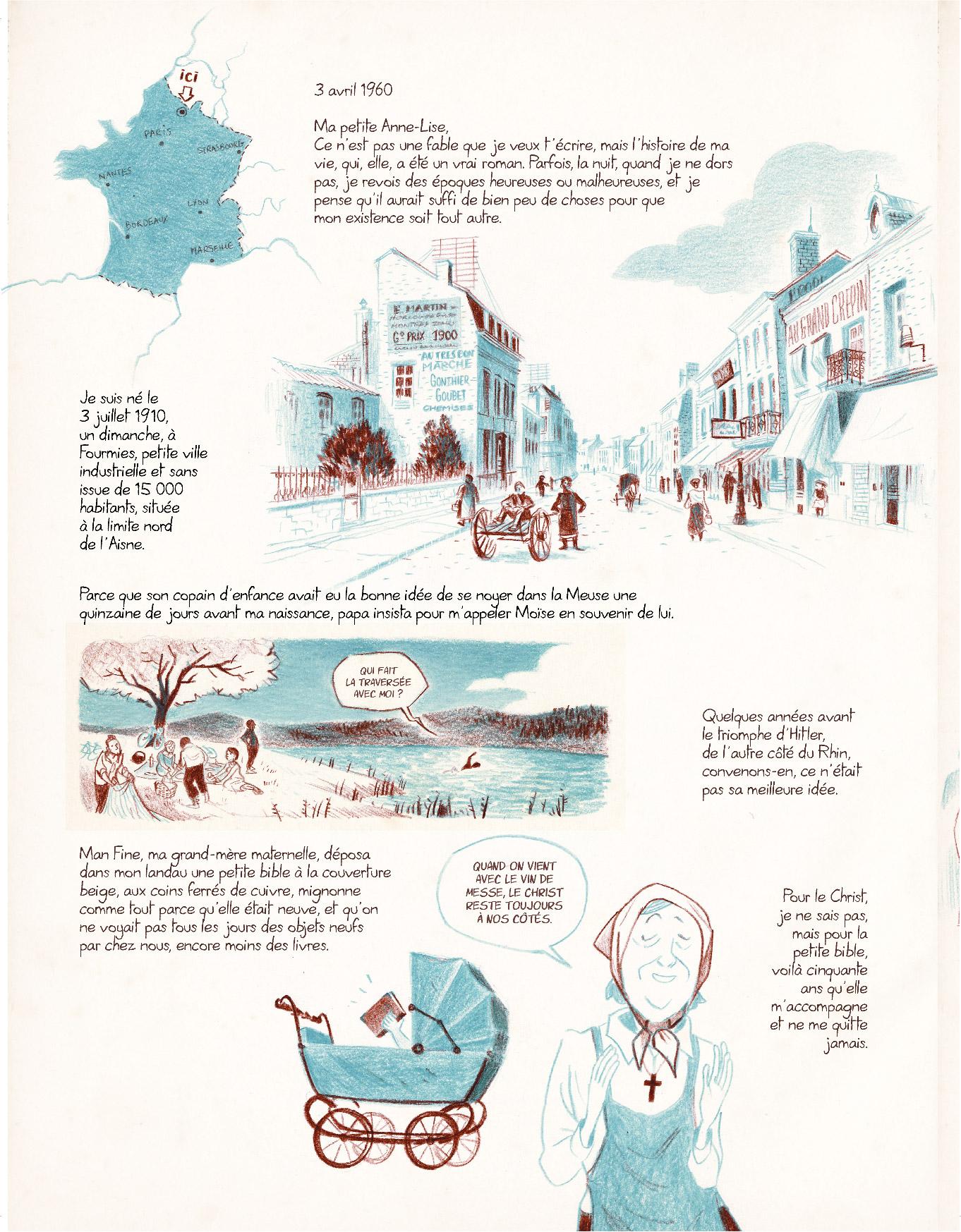 Extrait n°12 de la bd Entre les lignes par Dominique Mermoux