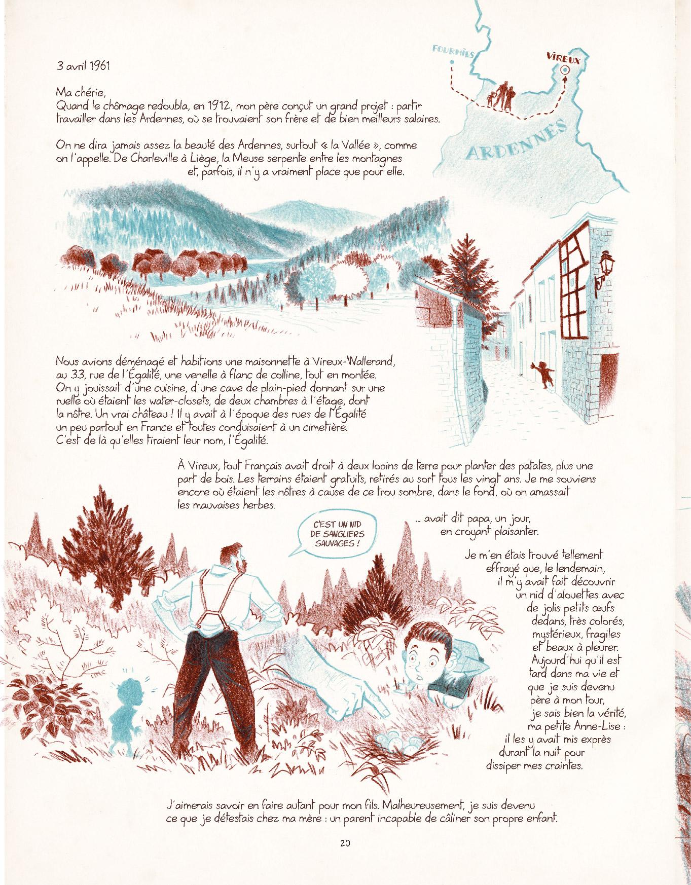 Extrait n°14 de la bd Entre les lignes par Dominique Mermoux