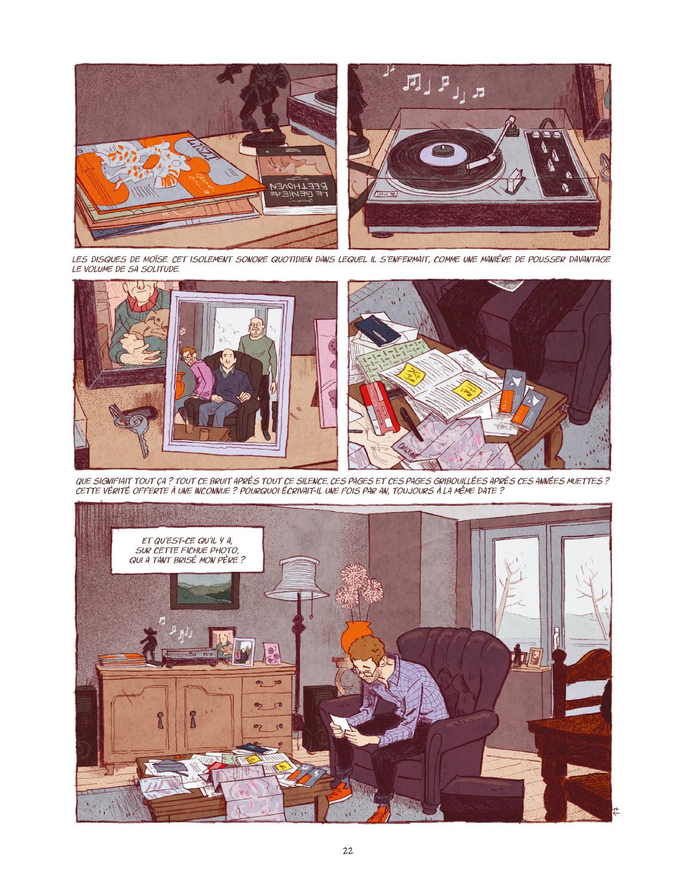 Extrait n°16 de la bd Entre les lignes par Dominique Mermoux