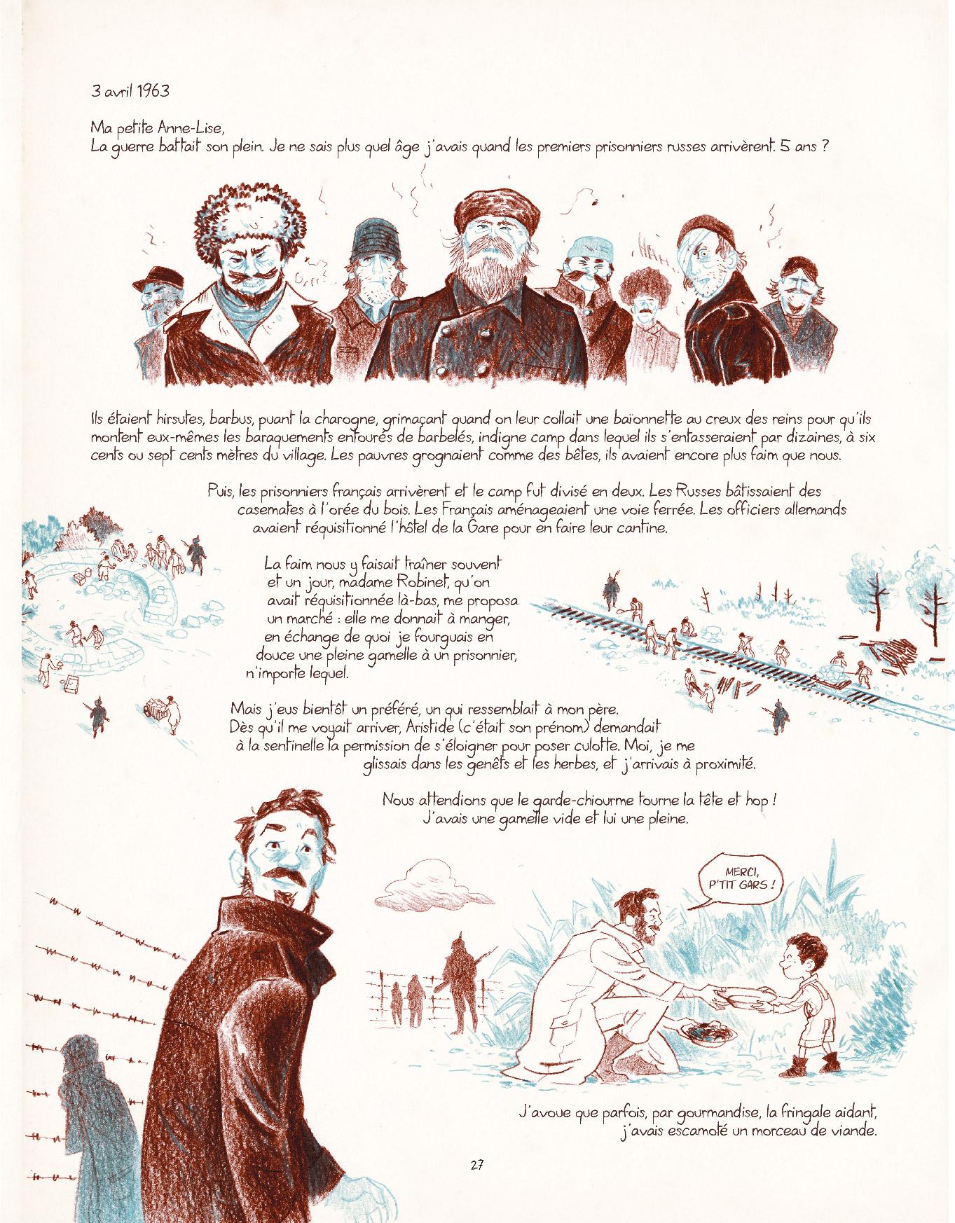 Extrait n°21 de la bd Entre les lignes par Dominique Mermoux