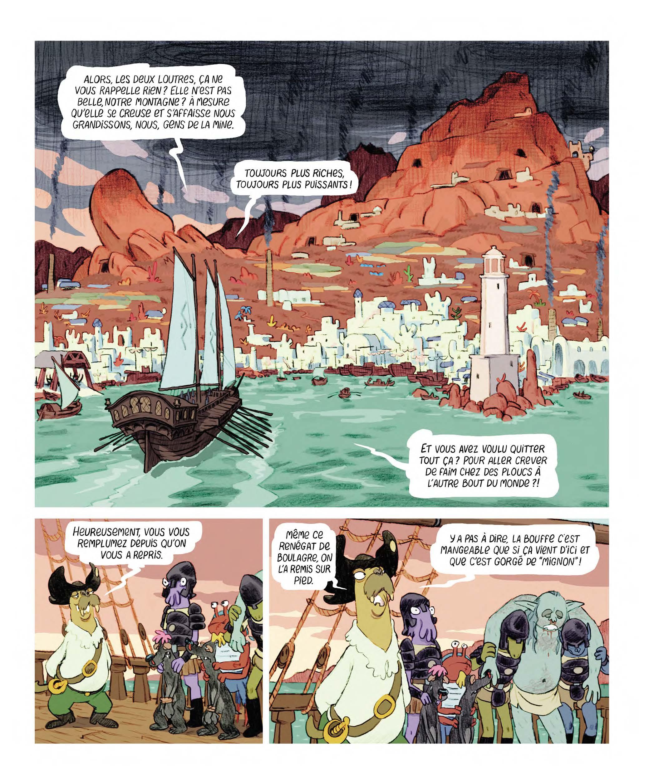 Extrait n°6 Les Affamés 2 - Hum et Wouaf et la triste mine  - Le retour d'hum et wouaf dans les mines de mignon par Jean-Emmanuel Vermot-Desroches