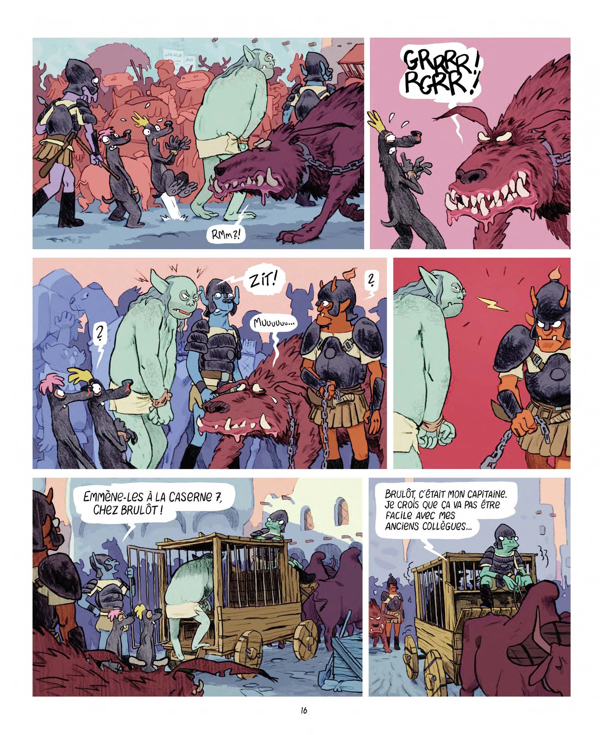 Extrait n°8 Les Affamés 2 - Hum et Wouaf et la triste mine  - Le retour d'hum et wouaf dans les mines de mignon par Jean-Emmanuel Vermot-Desroches