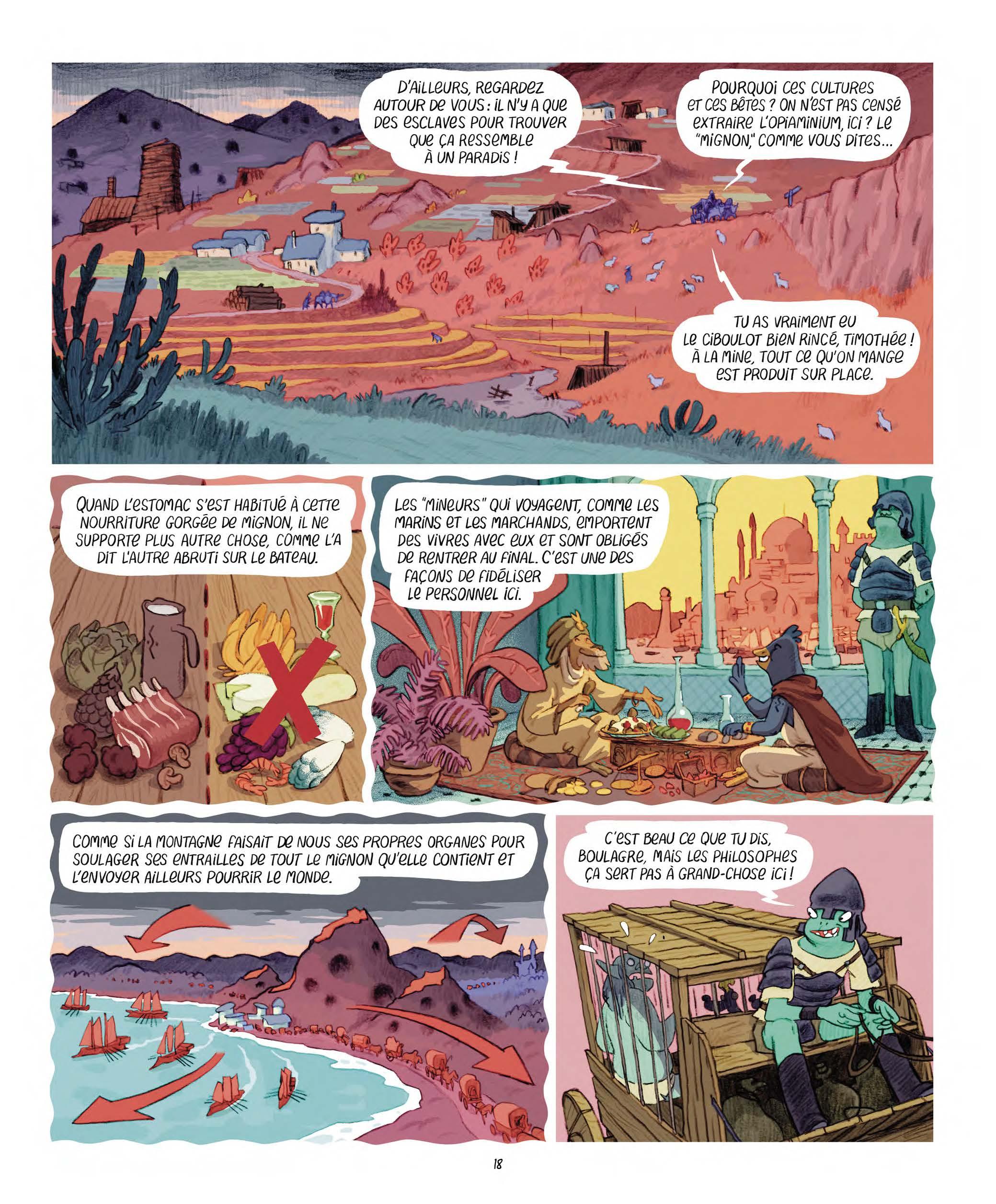 Extrait n°10 Les Affamés 2 - Hum et Wouaf et la triste mine  - Le retour d'hum et wouaf dans les mines de mignon par Jean-Emmanuel Vermot-Desroches