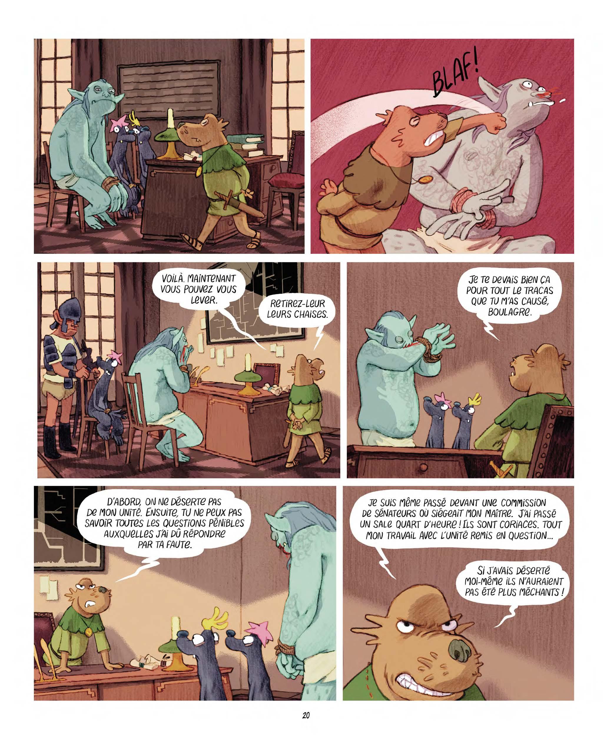 Extrait n°12 Les Affamés 2 - Hum et Wouaf et la triste mine  - Le retour d'hum et wouaf dans les mines de mignon par Jean-Emmanuel Vermot-Desroches