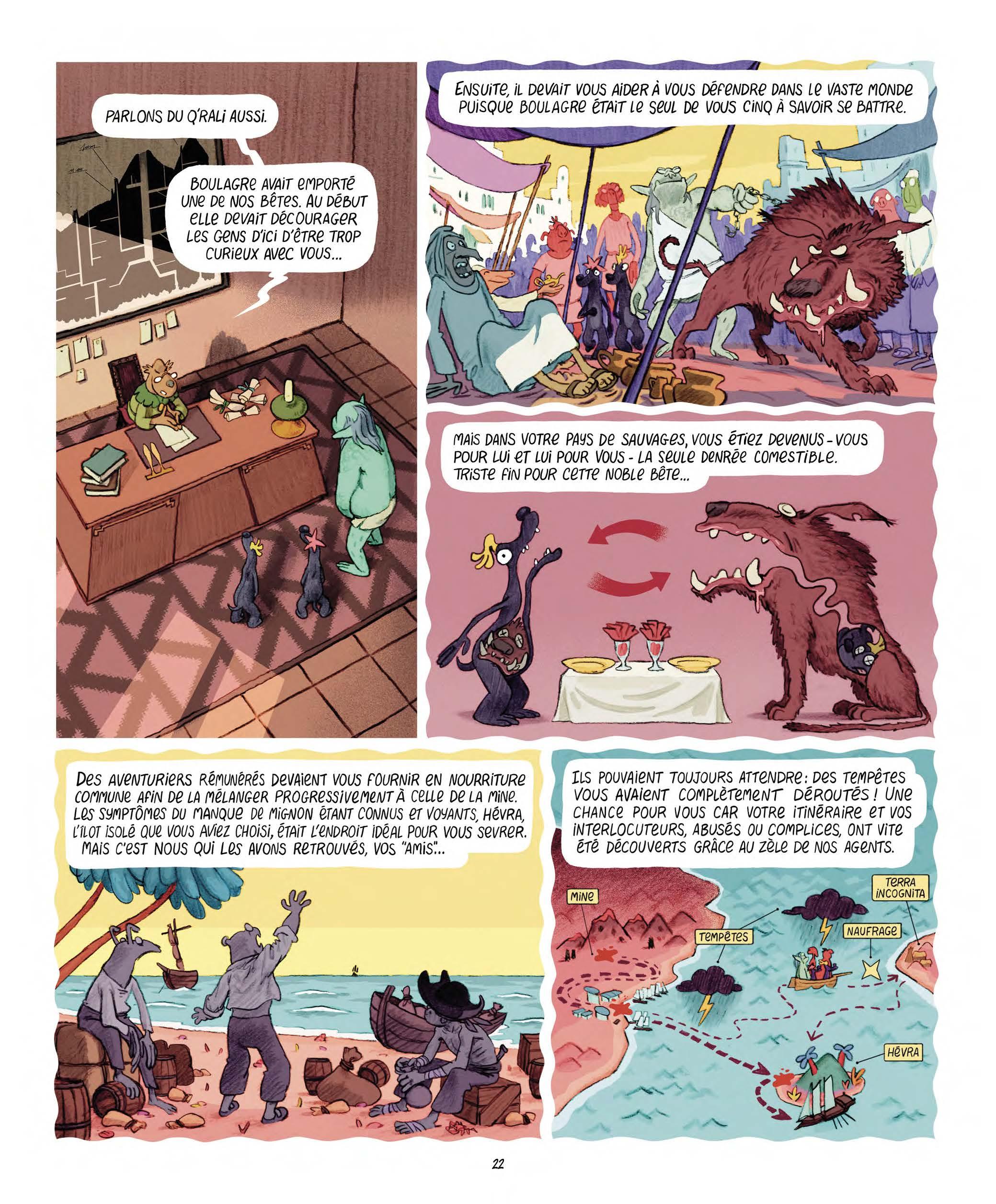 Extrait n°14 Les Affamés 2 - Hum et Wouaf et la triste mine  - Le retour d'hum et wouaf dans les mines de mignon par Jean-Emmanuel Vermot-Desroches