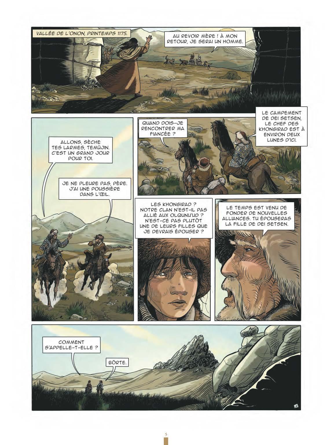 Extrait n°3 de la bd Gengis Khan et l'empire Mongol - 48HBD 2021 par Collectif