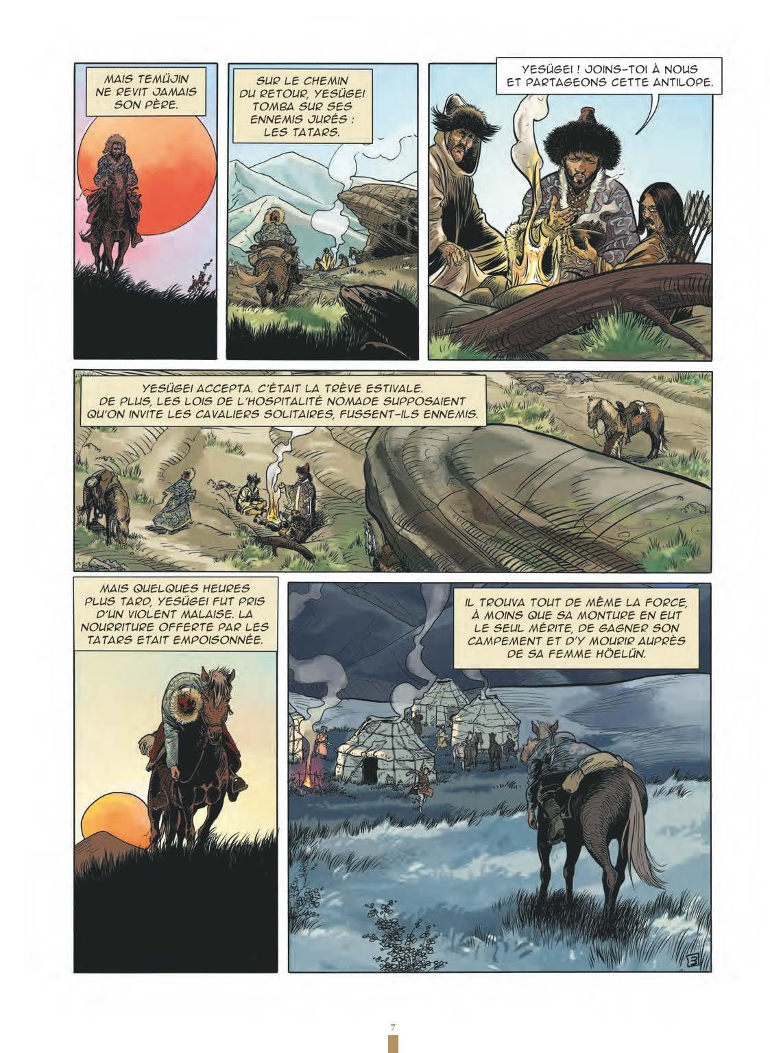 Extrait n°5 de la bd Gengis Khan et l'empire Mongol - 48HBD 2021 par Collectif