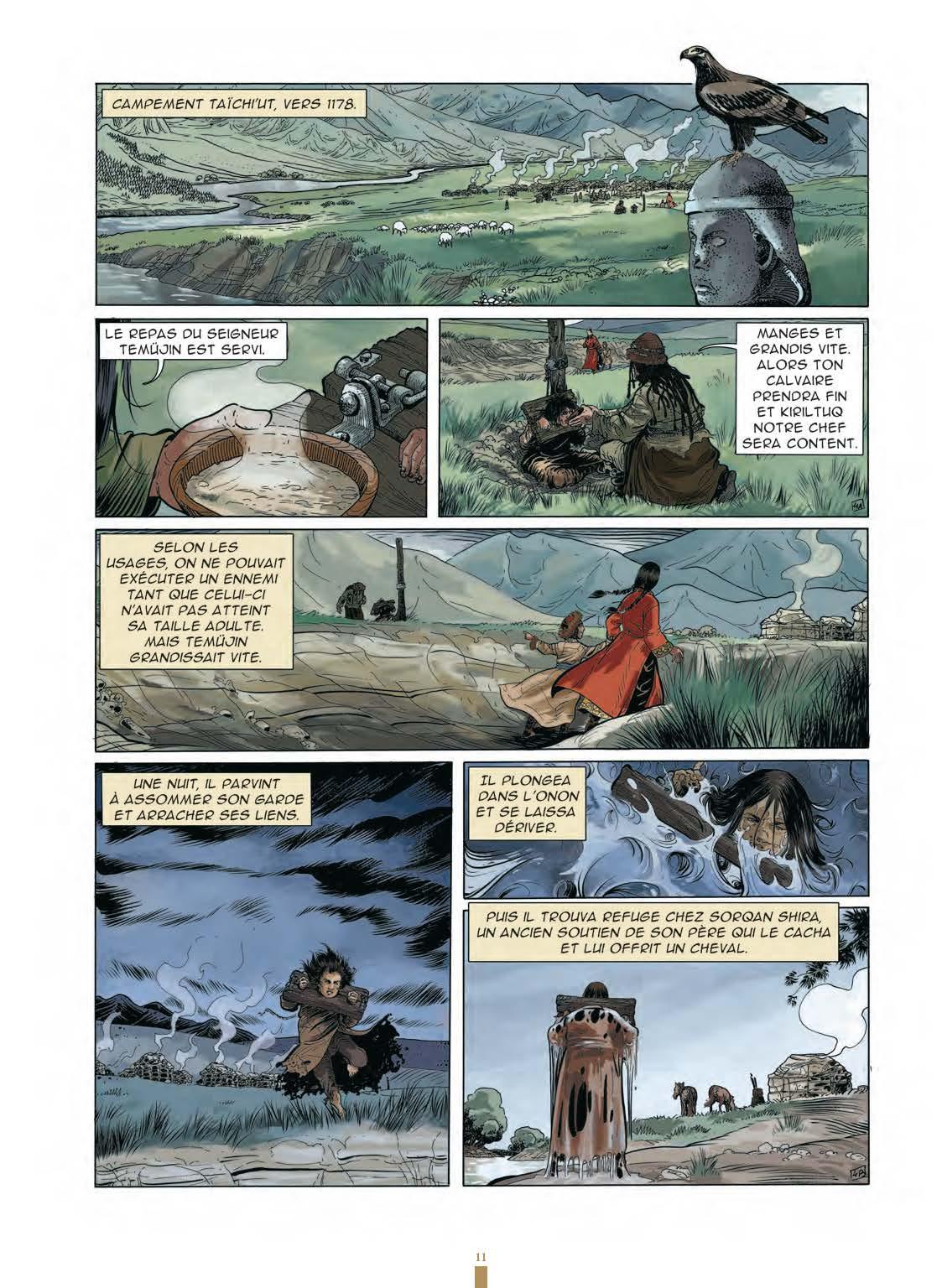 Extrait n°9 de la bd Gengis Khan et l'empire Mongol - 48HBD 2021 par Collectif