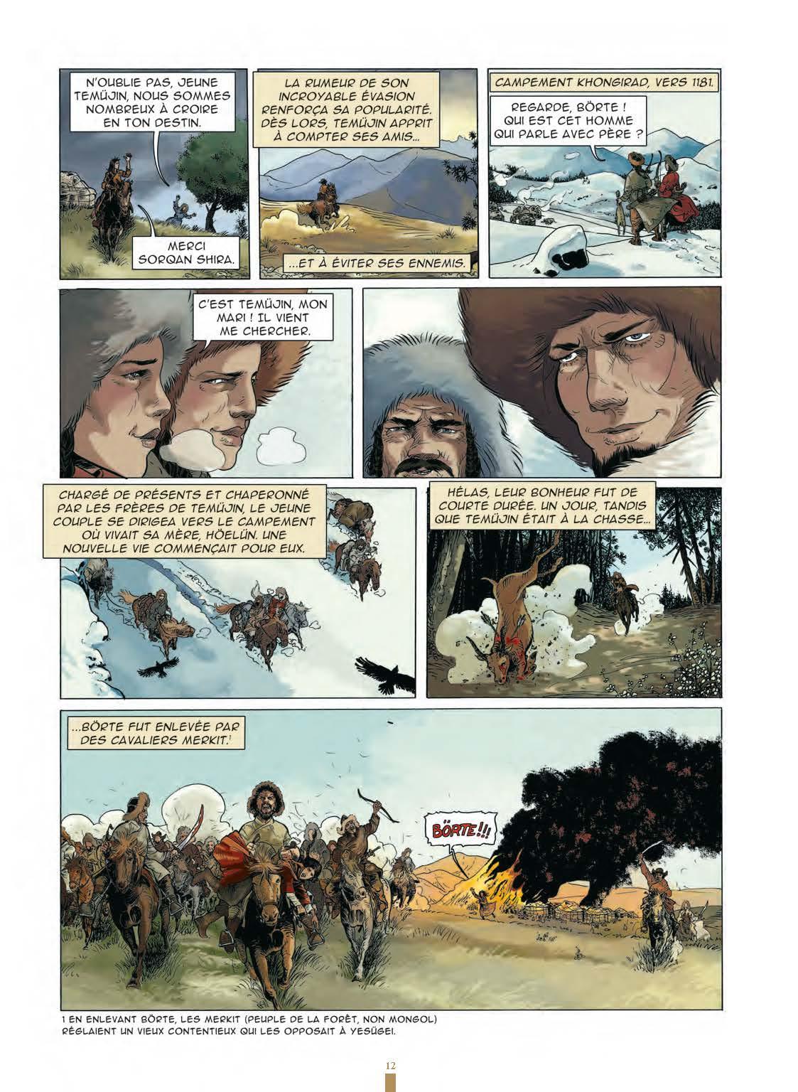 Extrait n°10 de la bd Gengis Khan et l'empire Mongol - 48HBD 2021 par Collectif