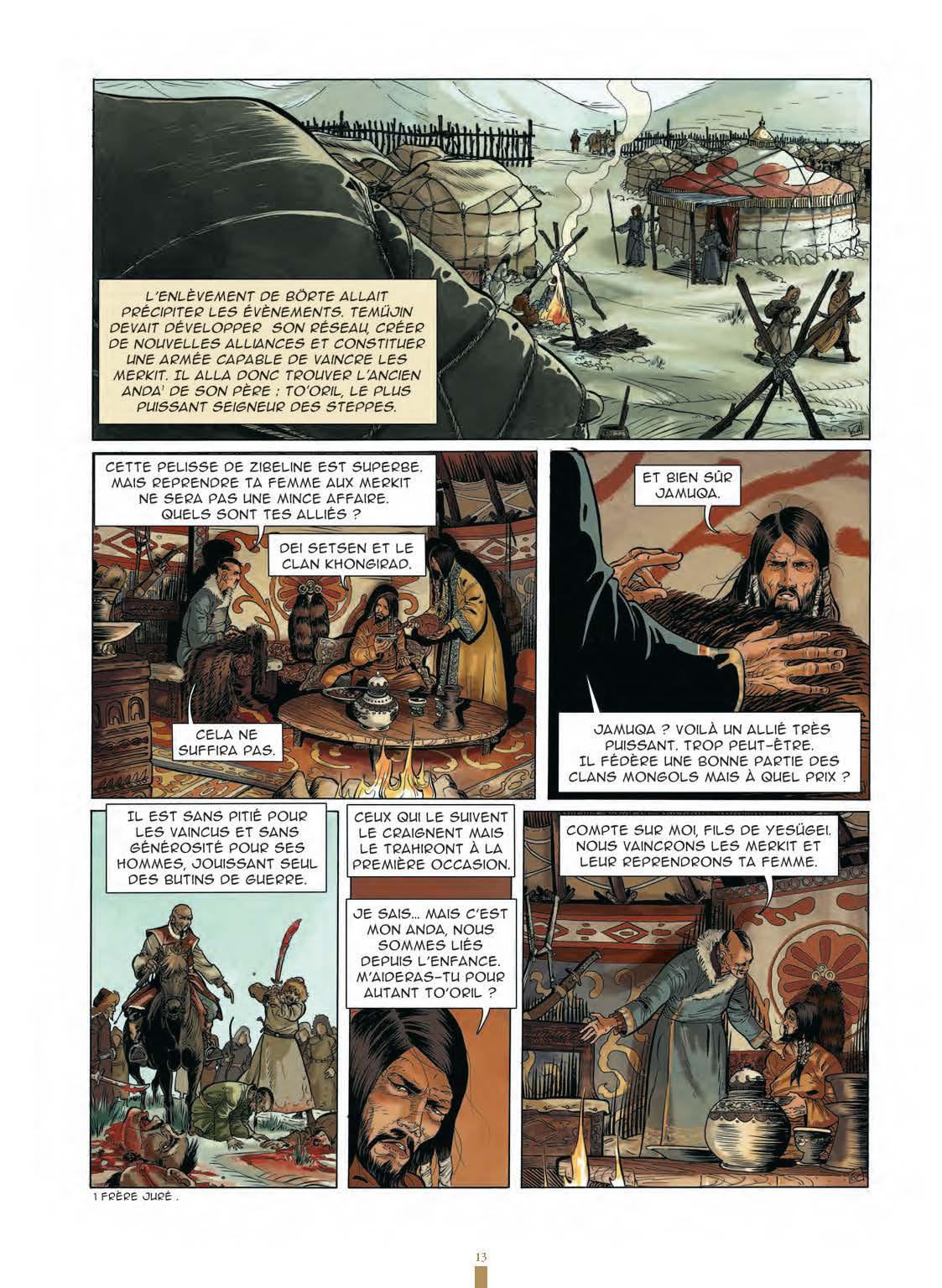Extrait n°11 de la bd Gengis Khan et l'empire Mongol - 48HBD 2021 par Collectif
