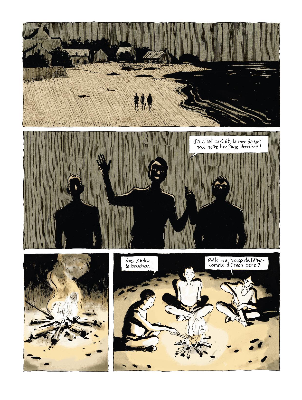 Extrait n°6 Sous les galets, la plage par Pascal Rabaté