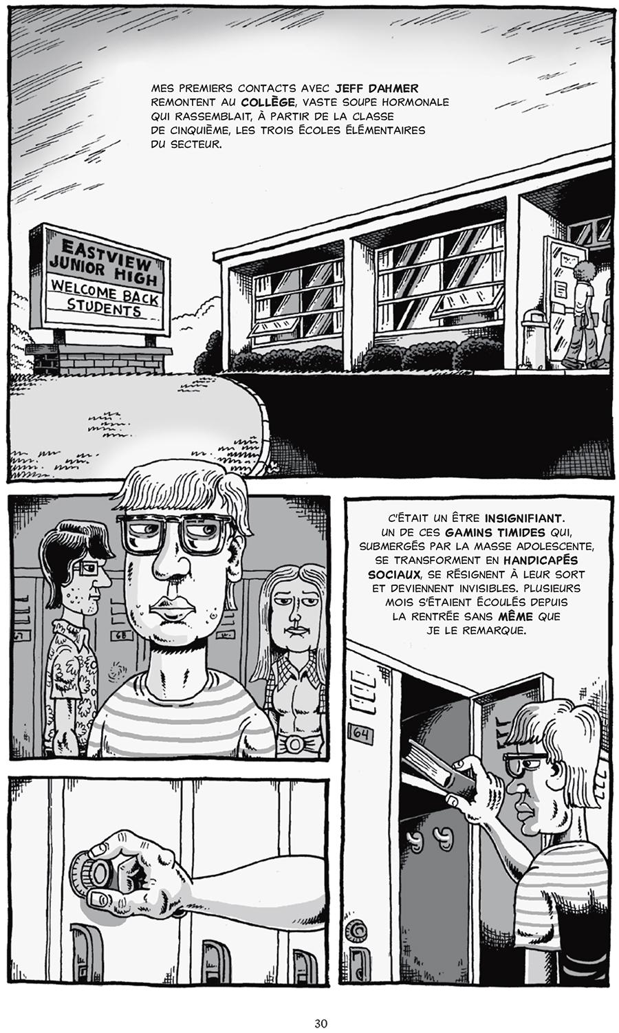 Extrait n°1 du comics Mon ami Dahmer par Derf Backderf