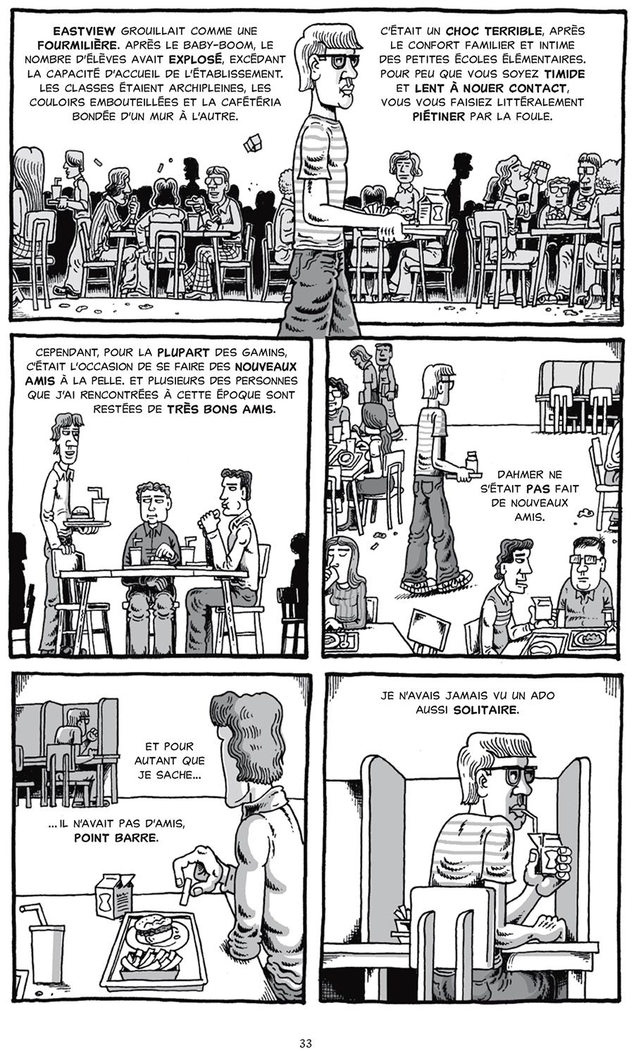 Extrait n°4 du comics Mon ami Dahmer par Derf Backderf