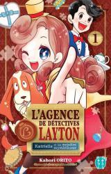 couverture de l'album L'agence de détectives Layton  - Katrielle et les enquêtes mystérieuses, tome 1