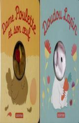 couverture de l'album Coffret de Pâques  - Doudou lapin ; Dame poulette et son oeuf