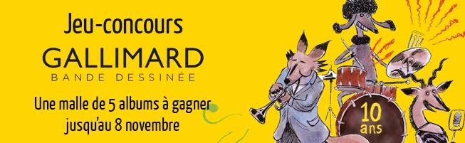 Jeu-concours 10 ans de BD chez Gallimard
