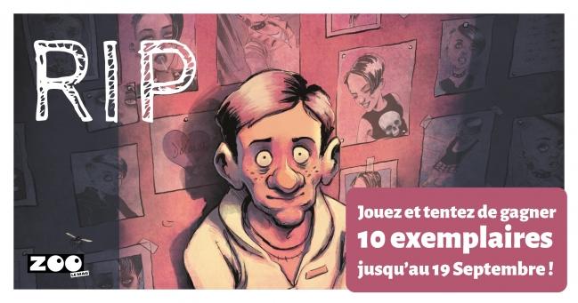 RIP est une série BD polar, un véritable puzzle dont chaque tome apporte son lot de pièces à l'intrigue… A vous de repositionner les pièces à la bonne place pour découvrir la couverture du tome 4 consacré à Albert.